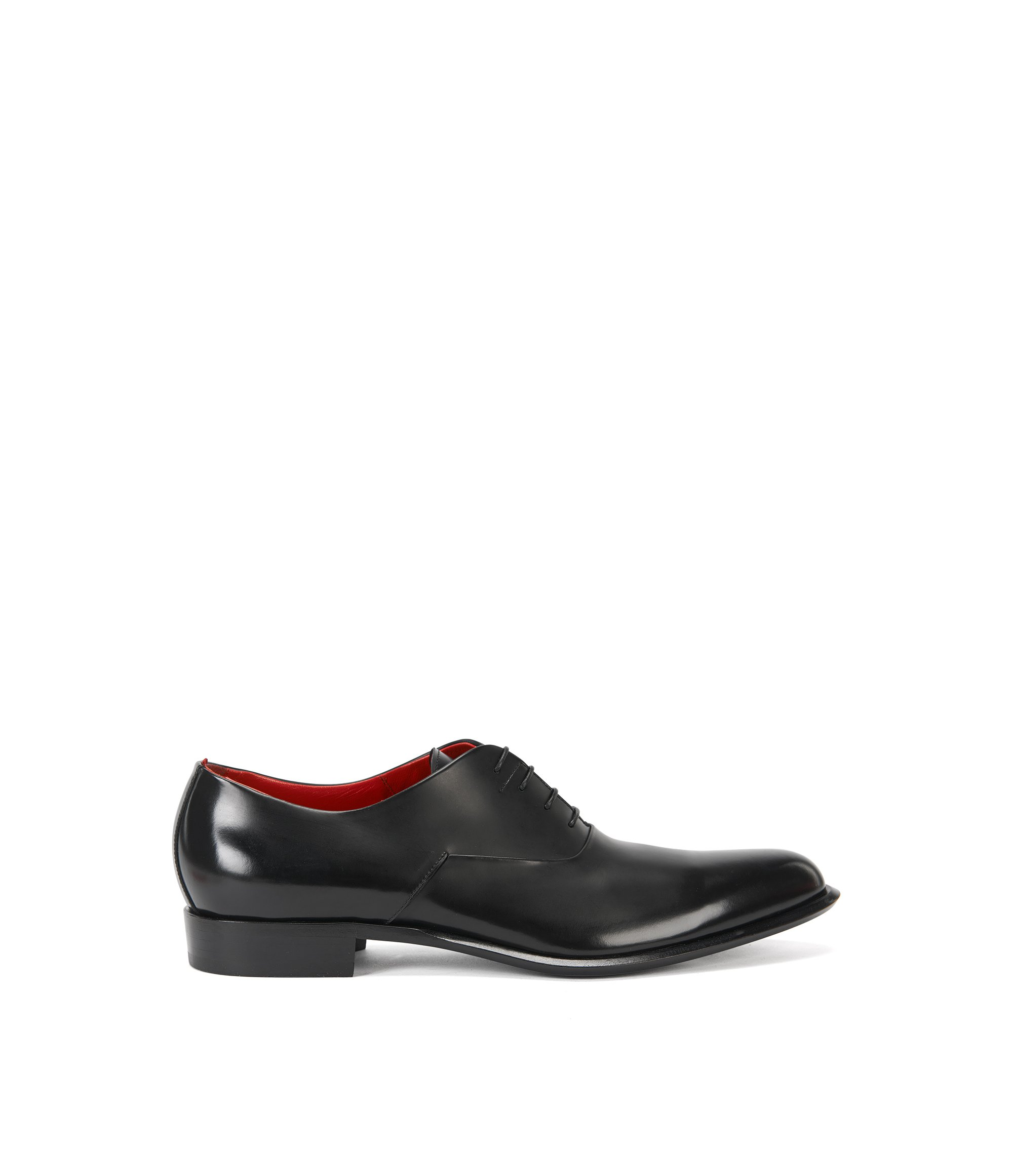 Italian-made Oxford shoes in rich leather, Black