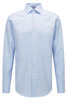 Camisa regular fit en algodón Royal Oxford superfino, Celeste