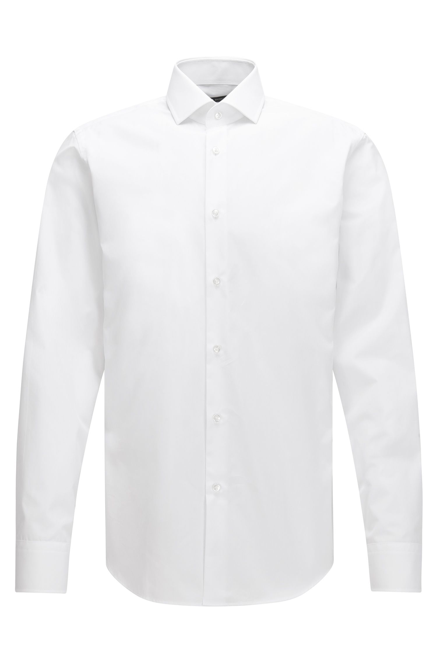 Regular-fit shirt in Italian two-ply cotton