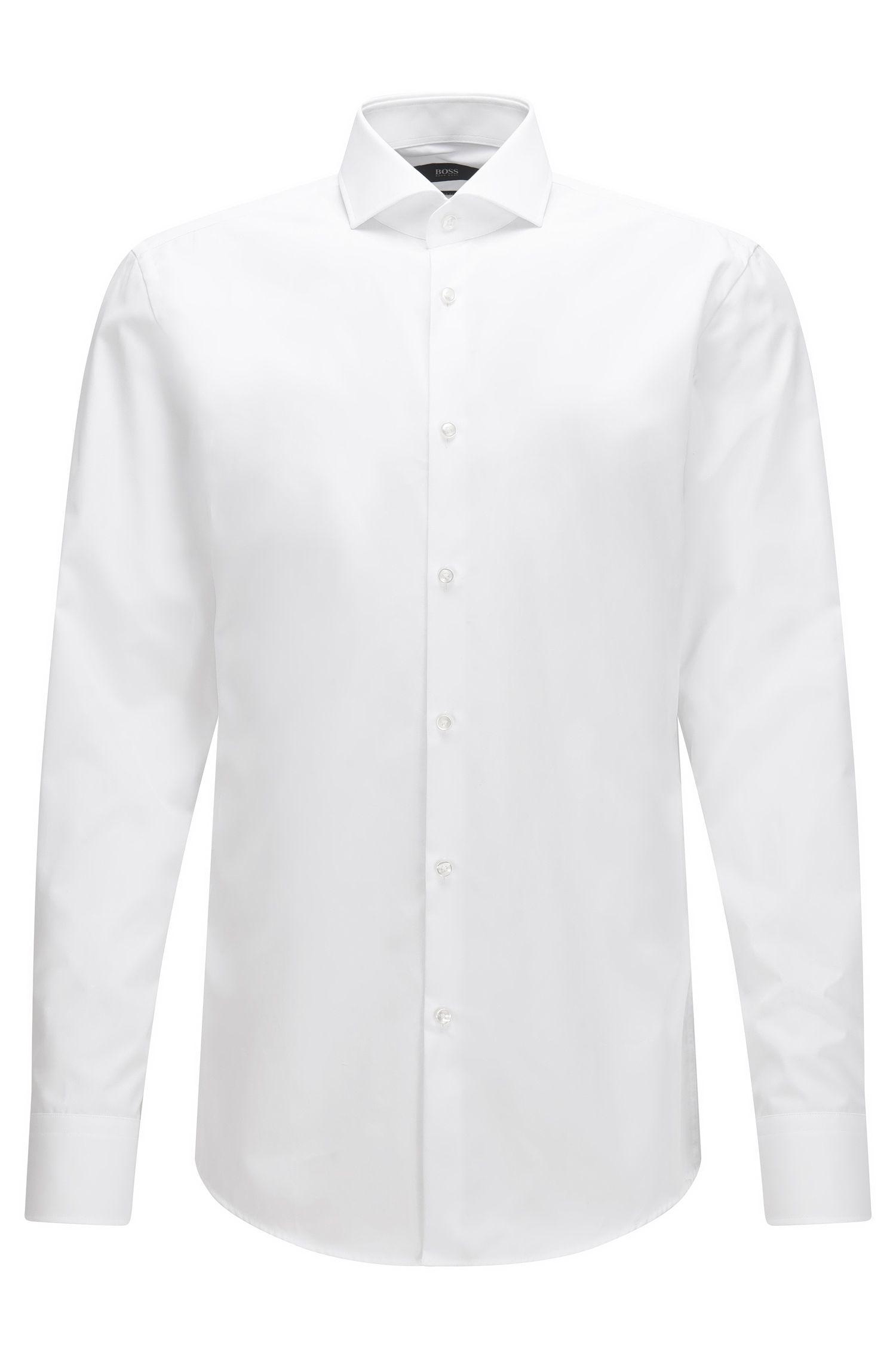 Camicia slim fit realizzata in Italia in cotone a doppio strato
