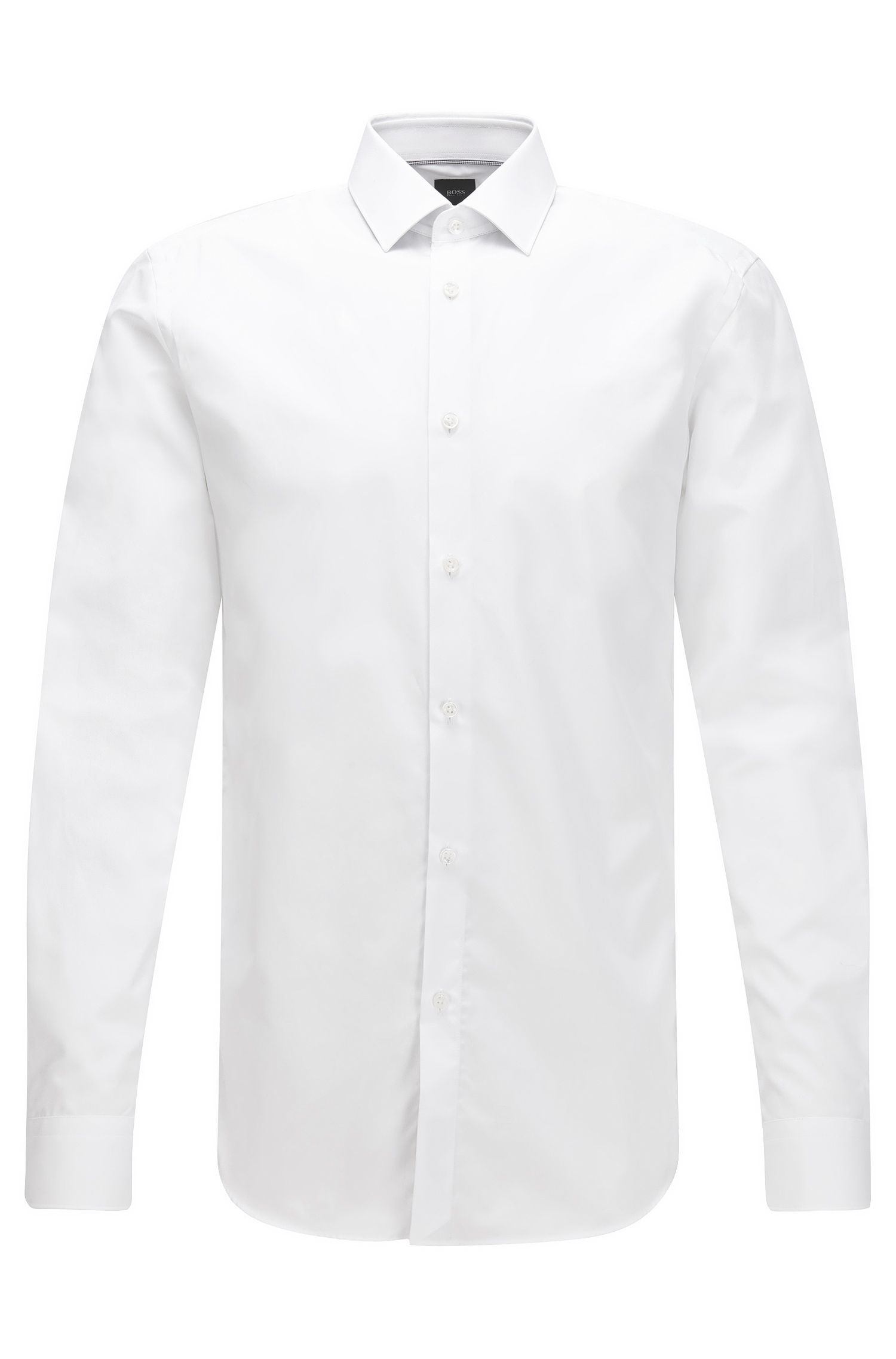 Slim-fit cotton shirt with contrast details