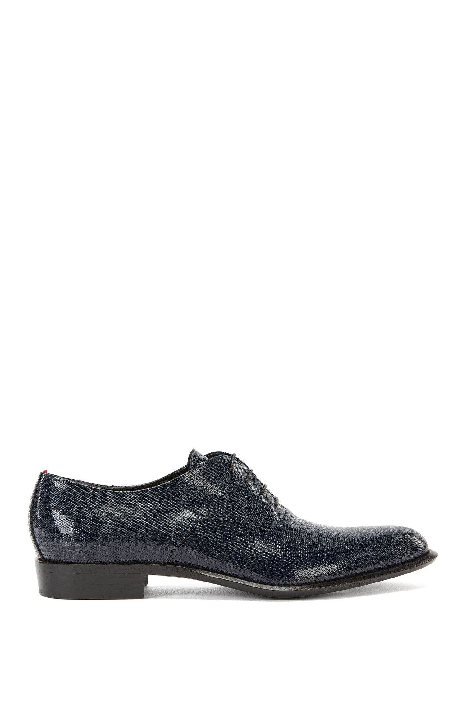 Lace-up Oxford shoes in printed leather