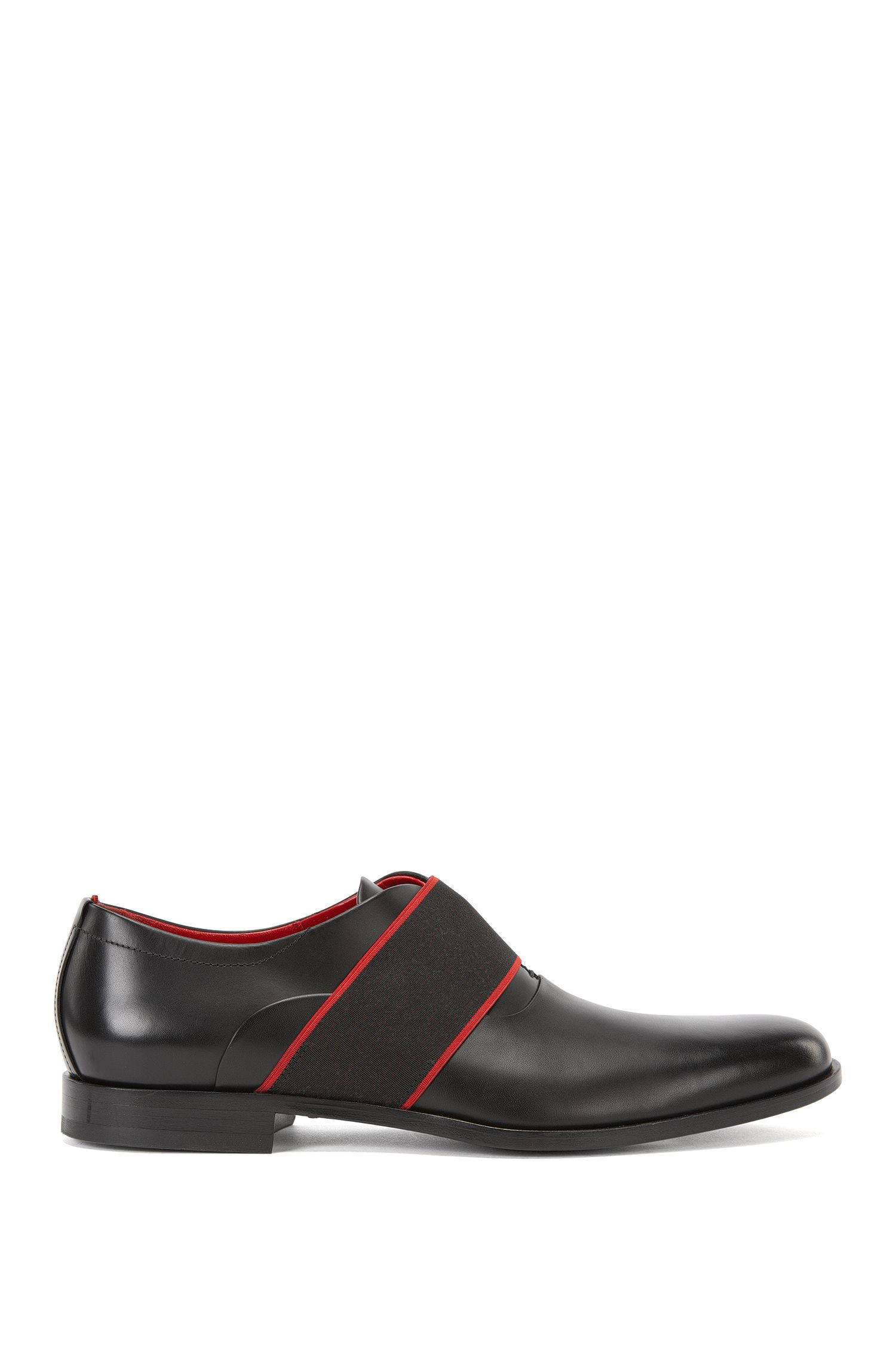 Leren schoenen met banddetail