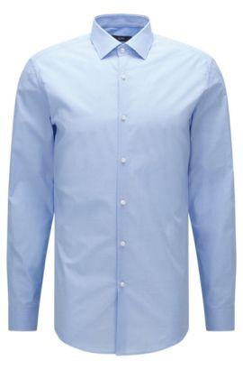 Chemise Slim Fit en coton à micro-motif, Bleu vif