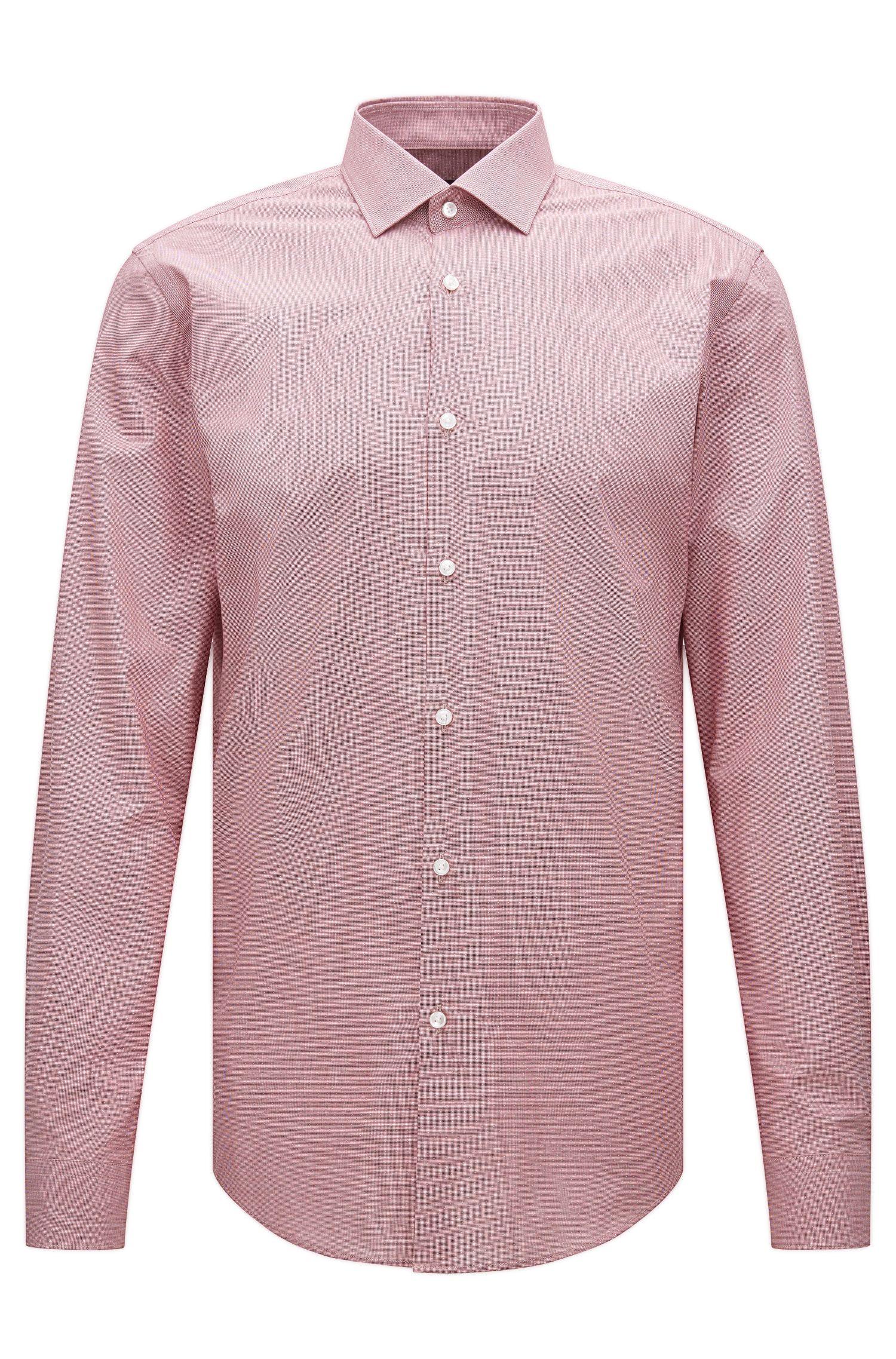 Slim-Fit Hemd aus gemusterter Baumwolle