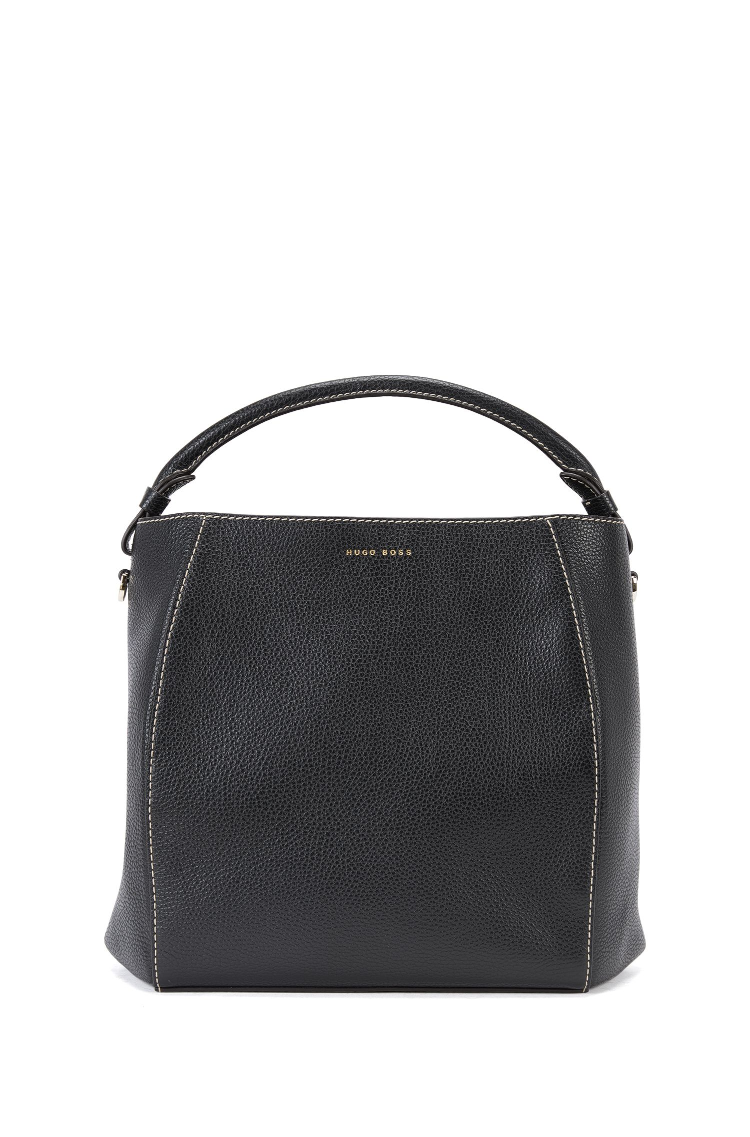 Bucket bag van luxueus Italiaans leer