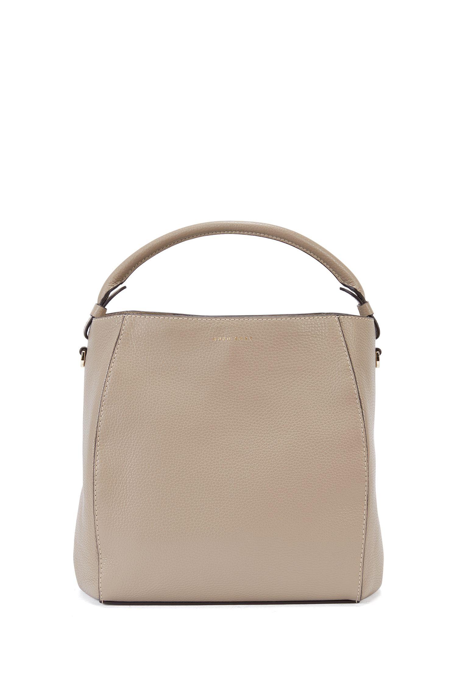 Bucket bag in rich Italian leather