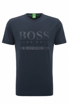 T-shirt Regular Fit en coton stretch avec logo, Fantaisie