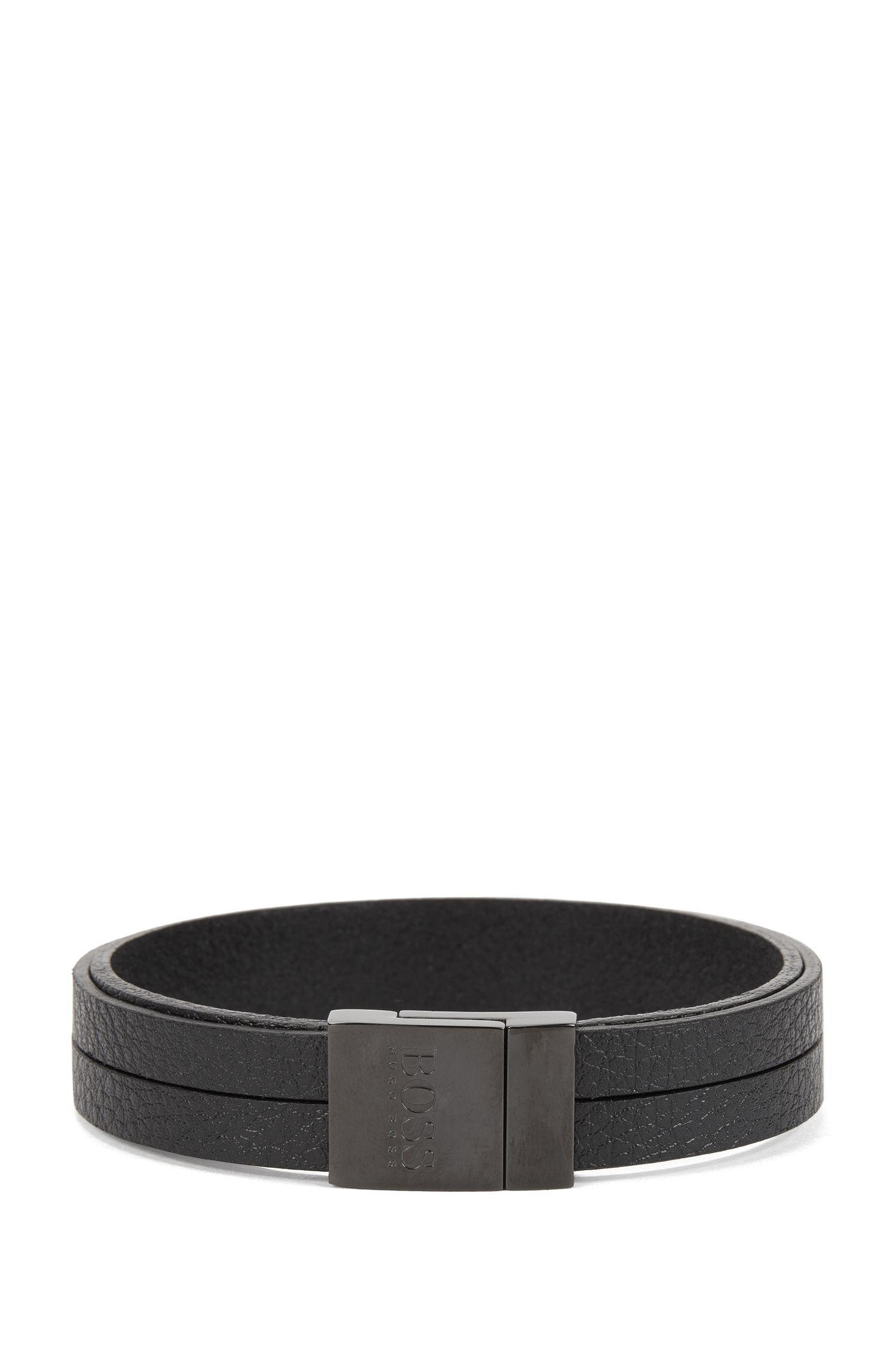 Bracelet en cuir avec fermoir magnétique