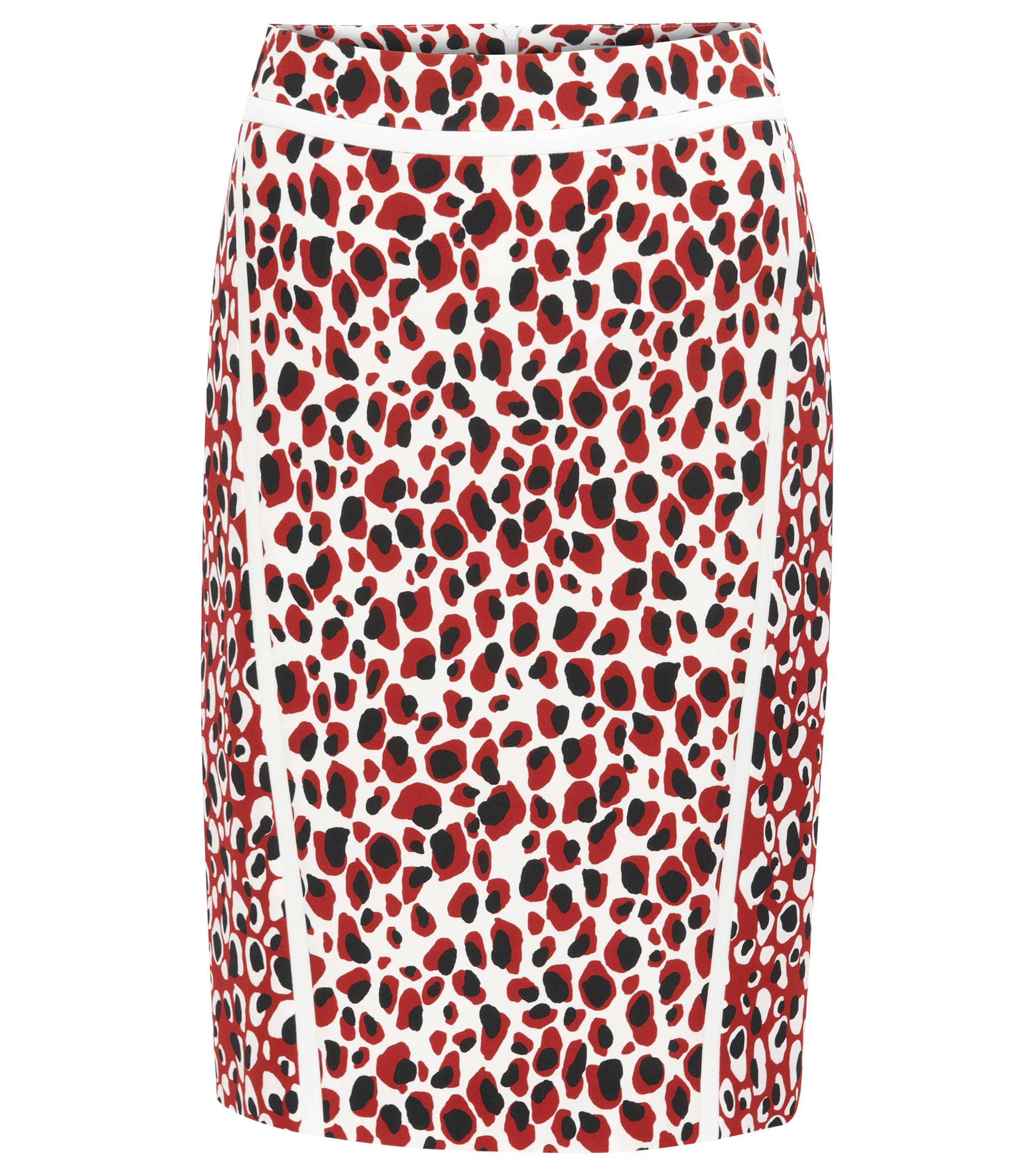 Slim-fit pencil skirt in mixed leopard print, Patterned