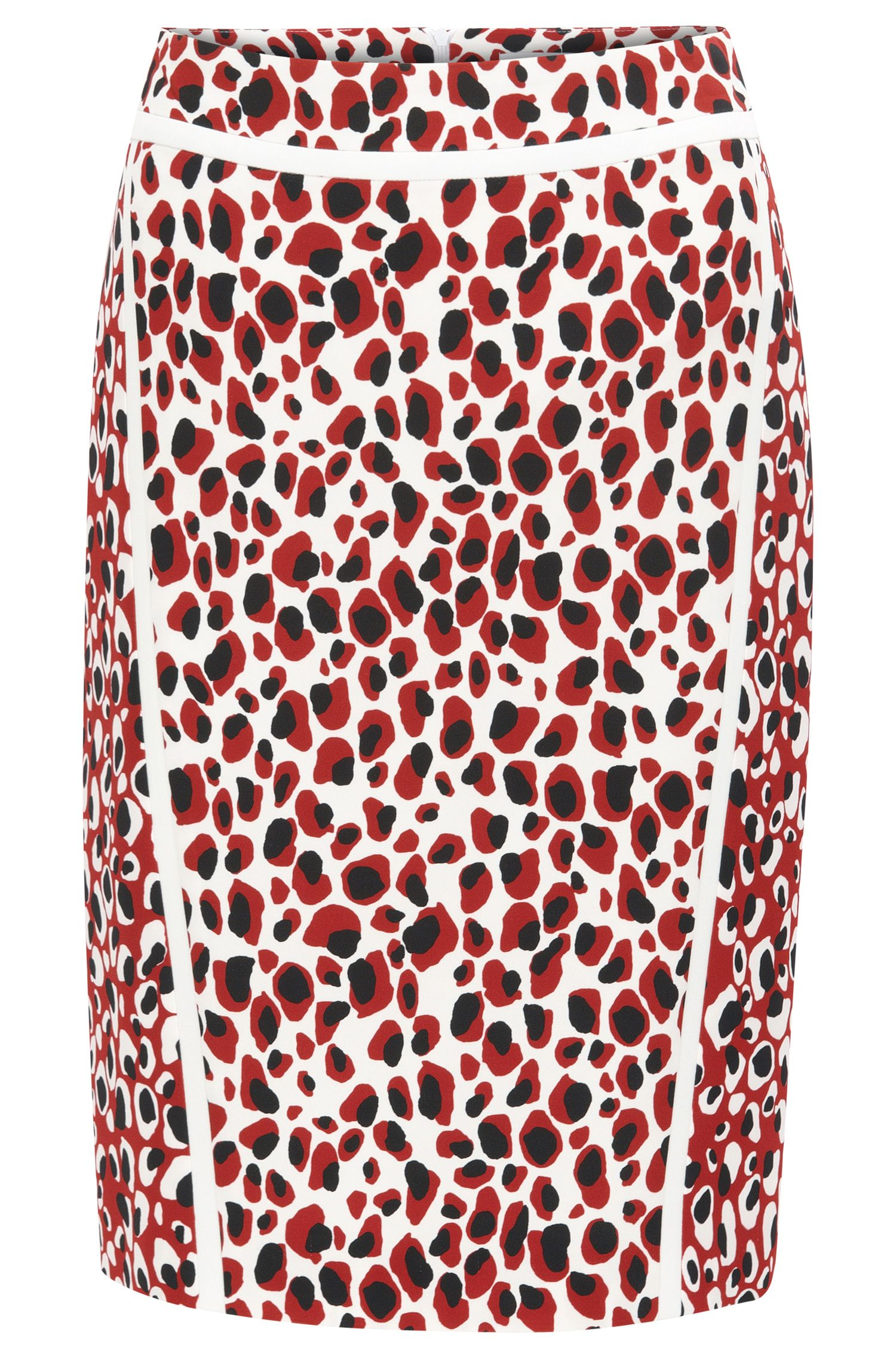 Slim-fit pencil skirt in mixed leopard print