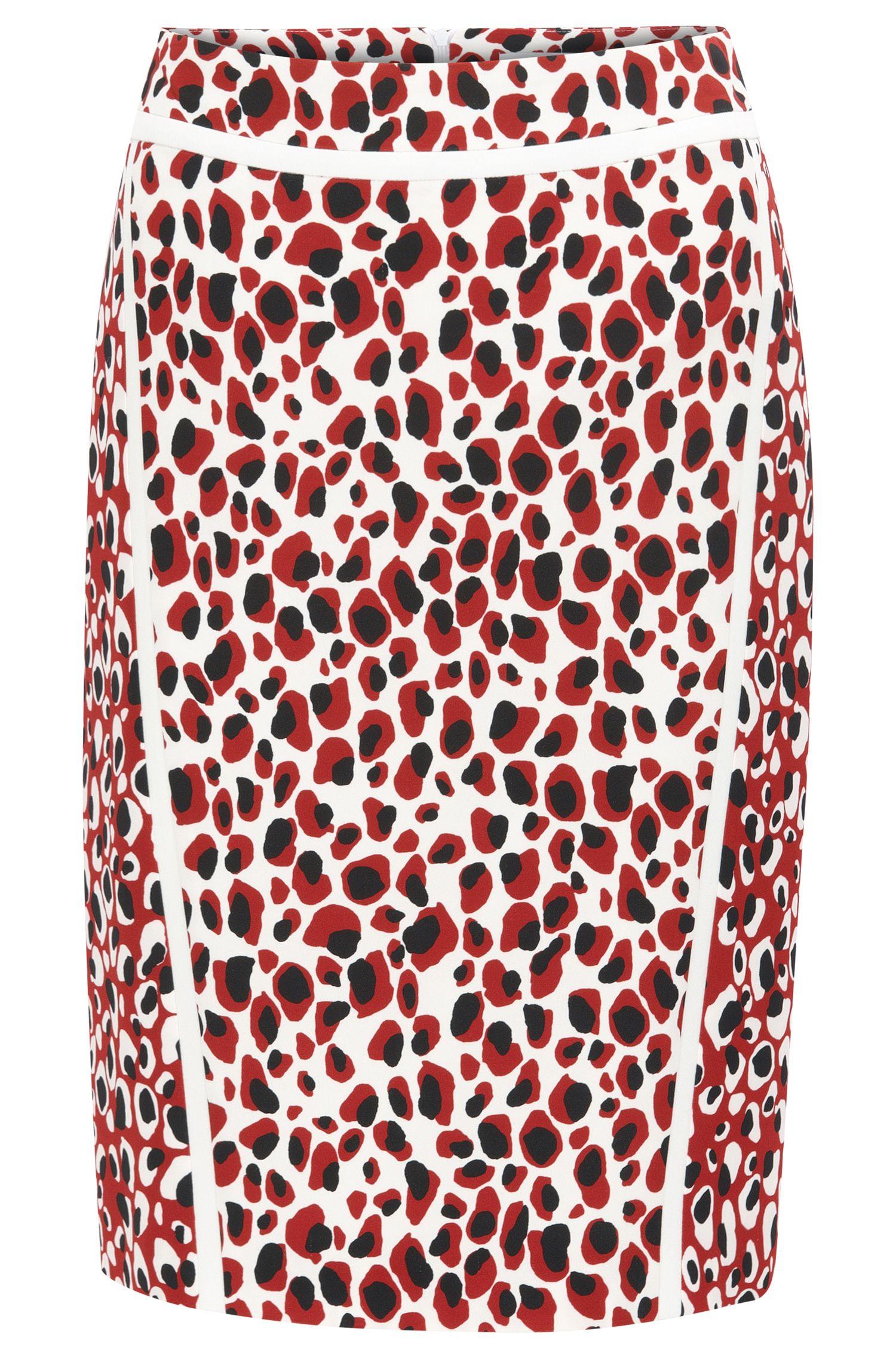 Slim-fit pencil skirt in mixed leopard print