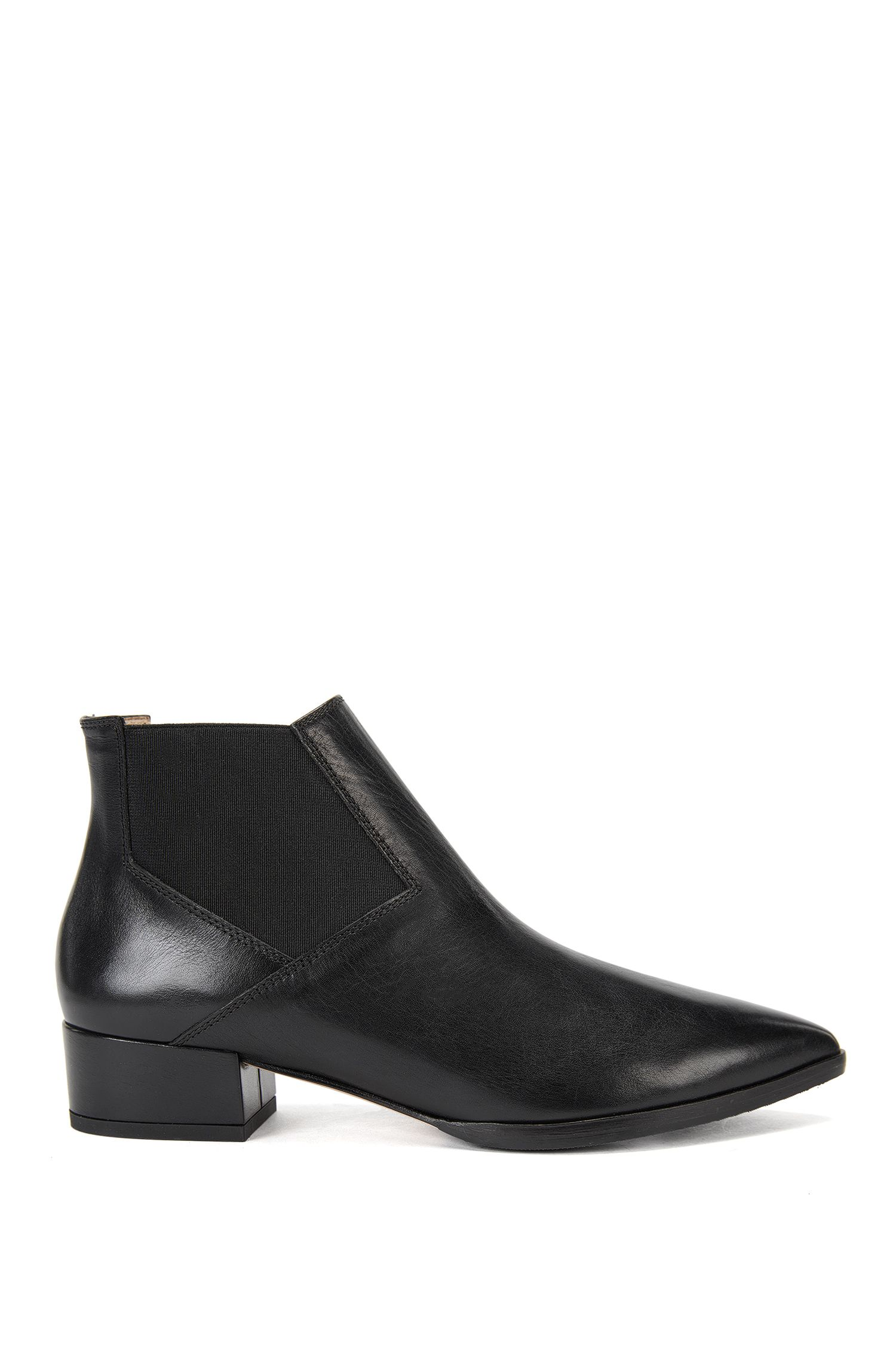 Leather Chelsea boots with pointed toe