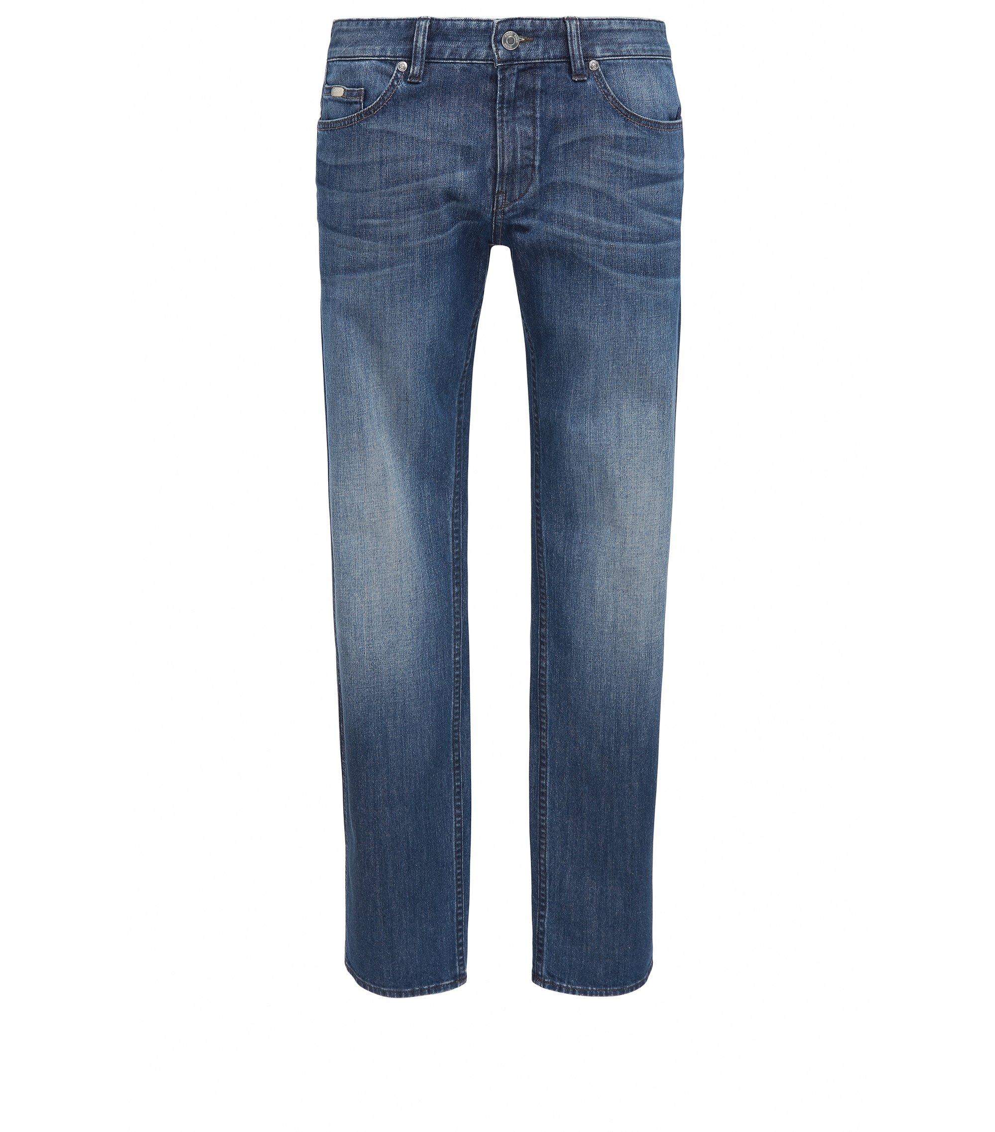 Slim-fit jeans van comfortabele stretchdenim, Blauw