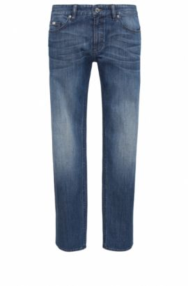 Vaqueros slim fit en denim elástico para mayor confort, Azul