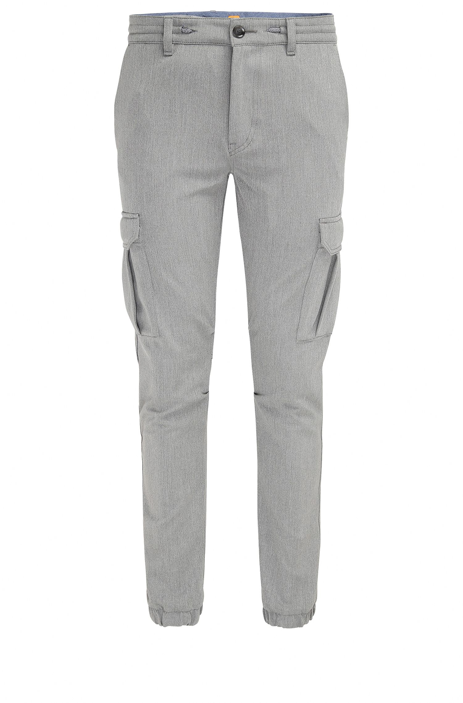 Tapered-fit cargobroek van garengeverfde twill