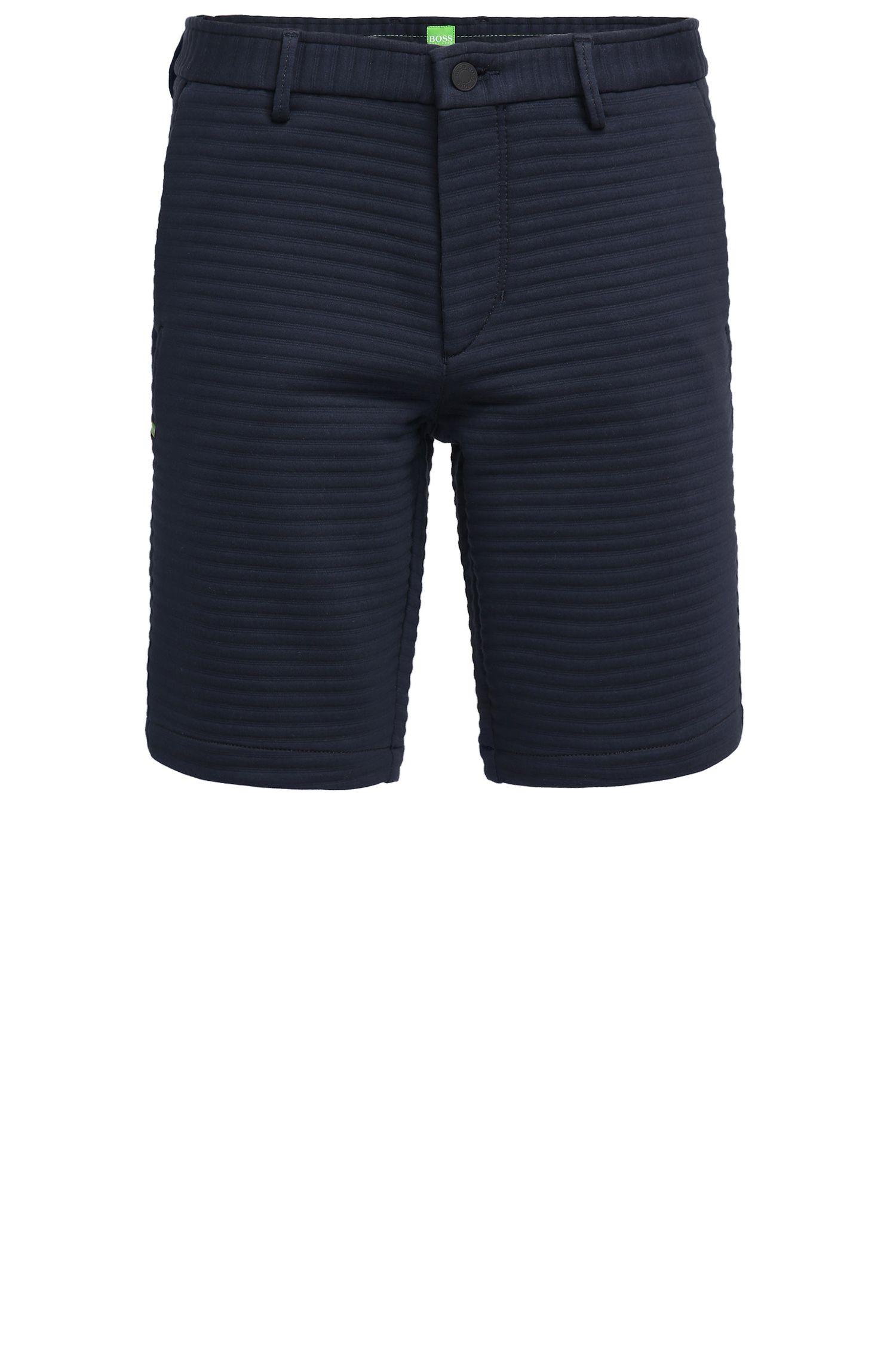 Shorts slim fit en punto italiano con textura