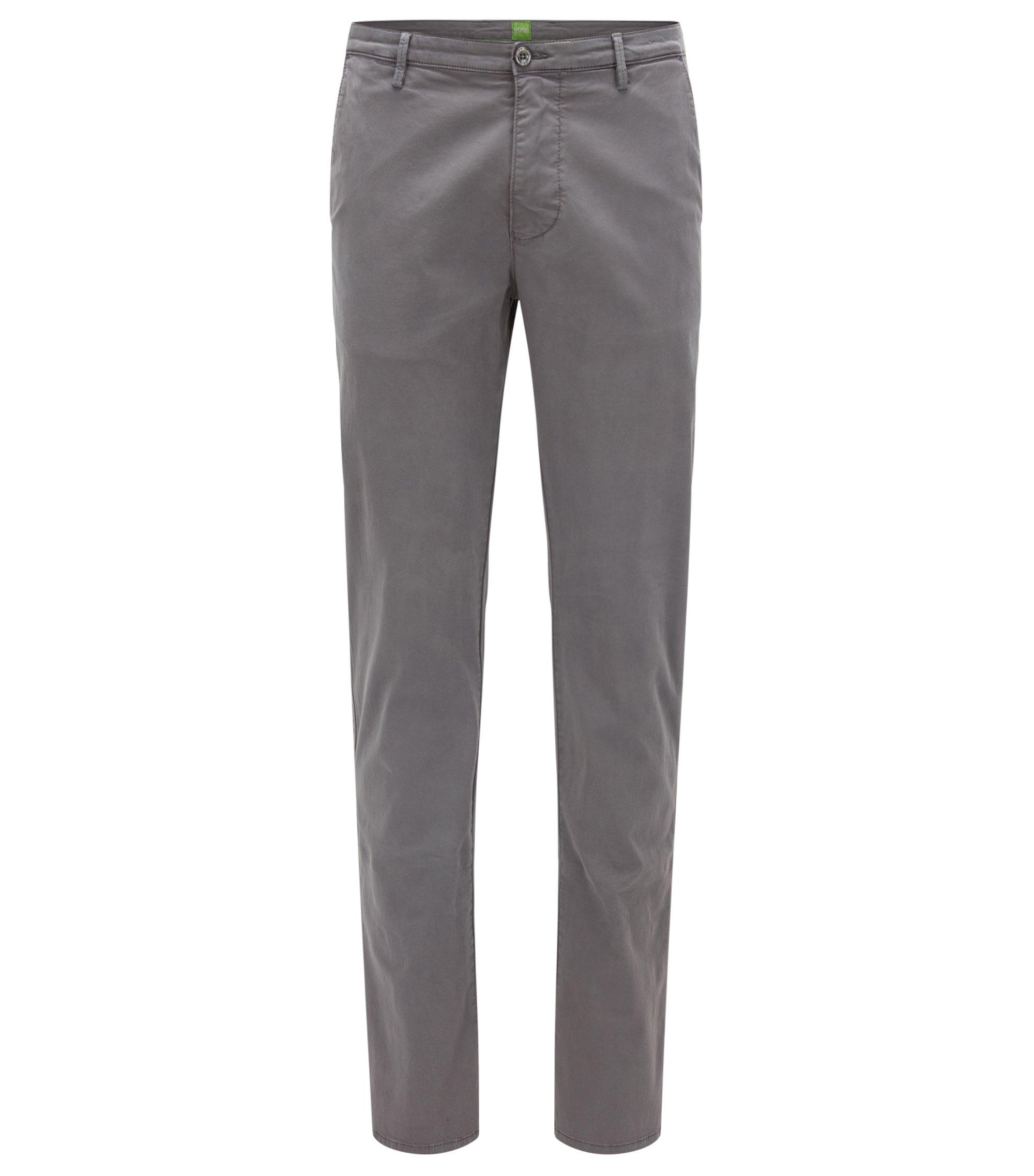 Pantalon Slim Fit en coton Pima stretch, Gris