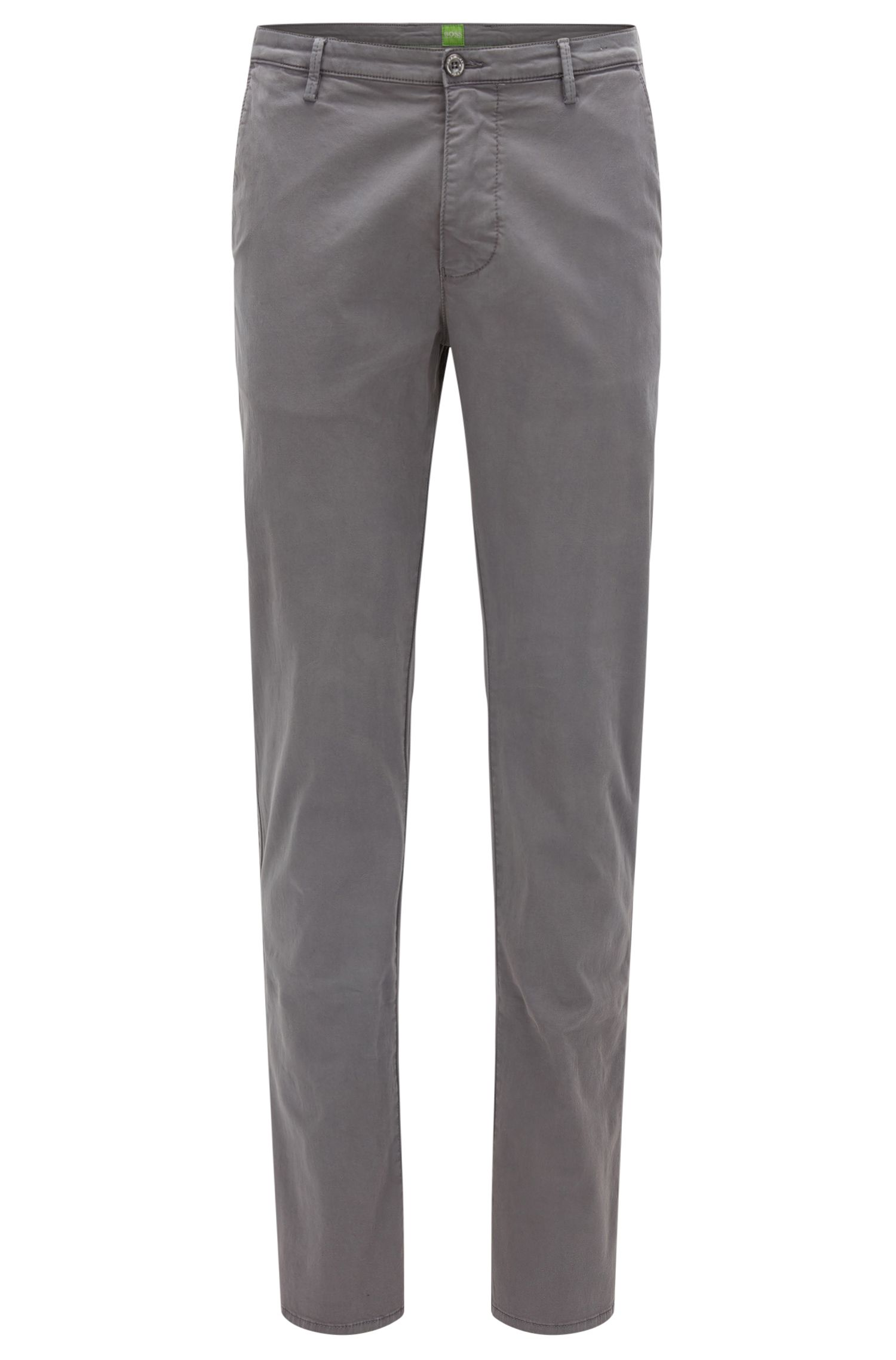 Slim-fit trousers in stretch pima cotton