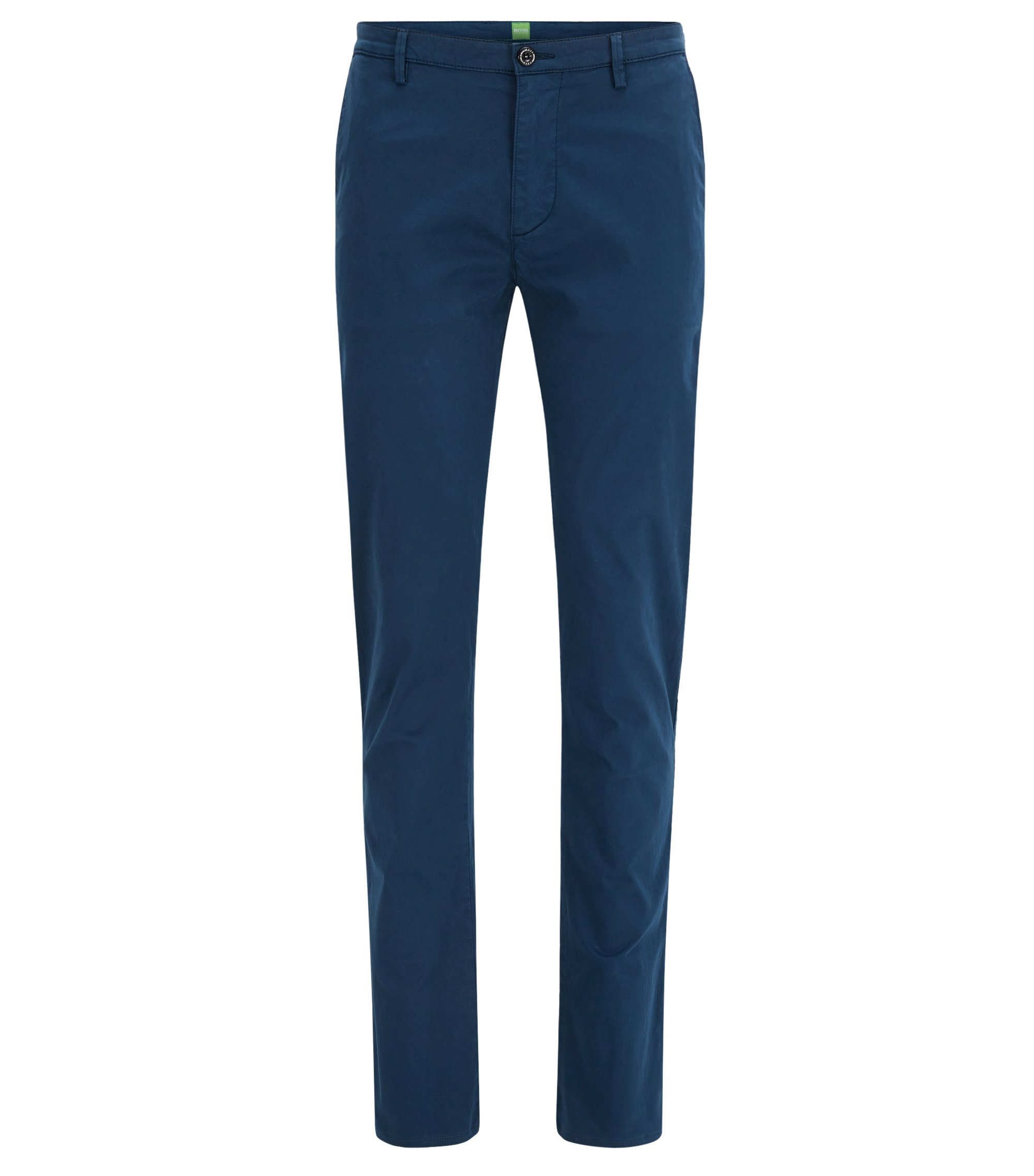 Pantalon Slim Fit en coton Pima stretch, Bleu foncé