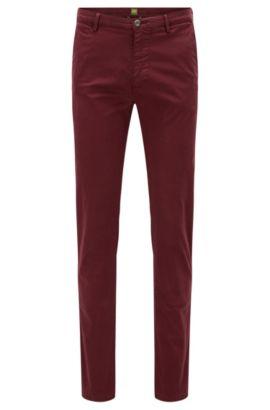 Pantalon Slim Fit en coton Pima stretch, Rouge