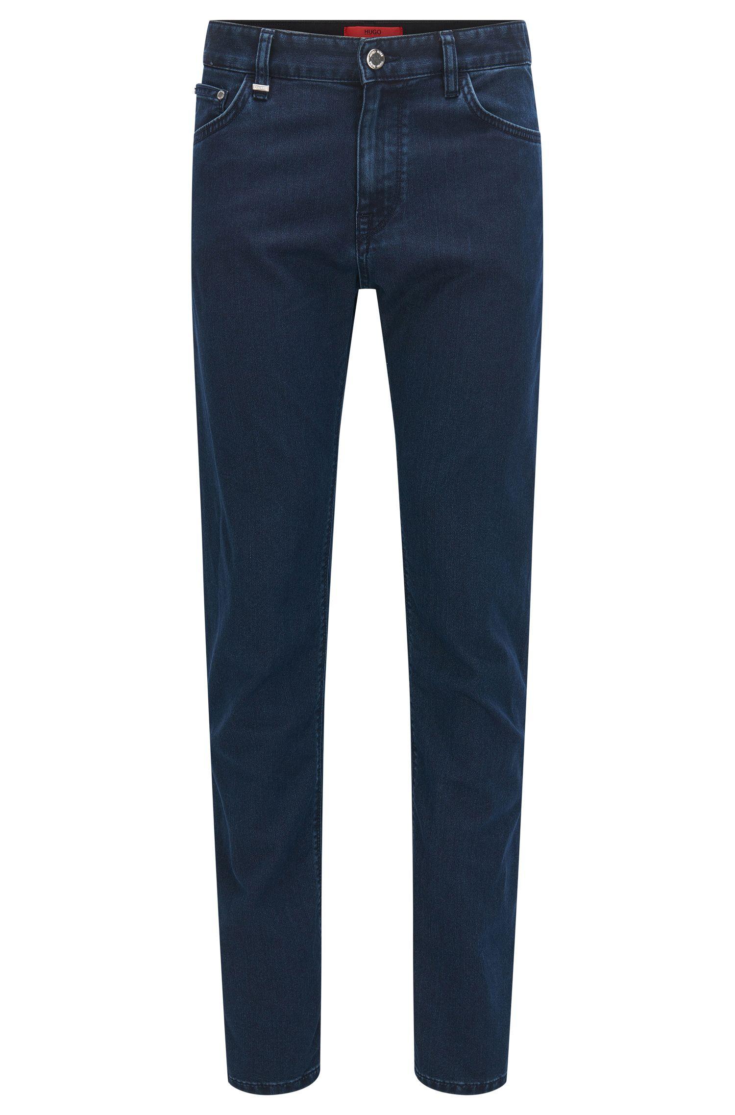 Jeans regular fit elasticizzati in raffinato denim italiano