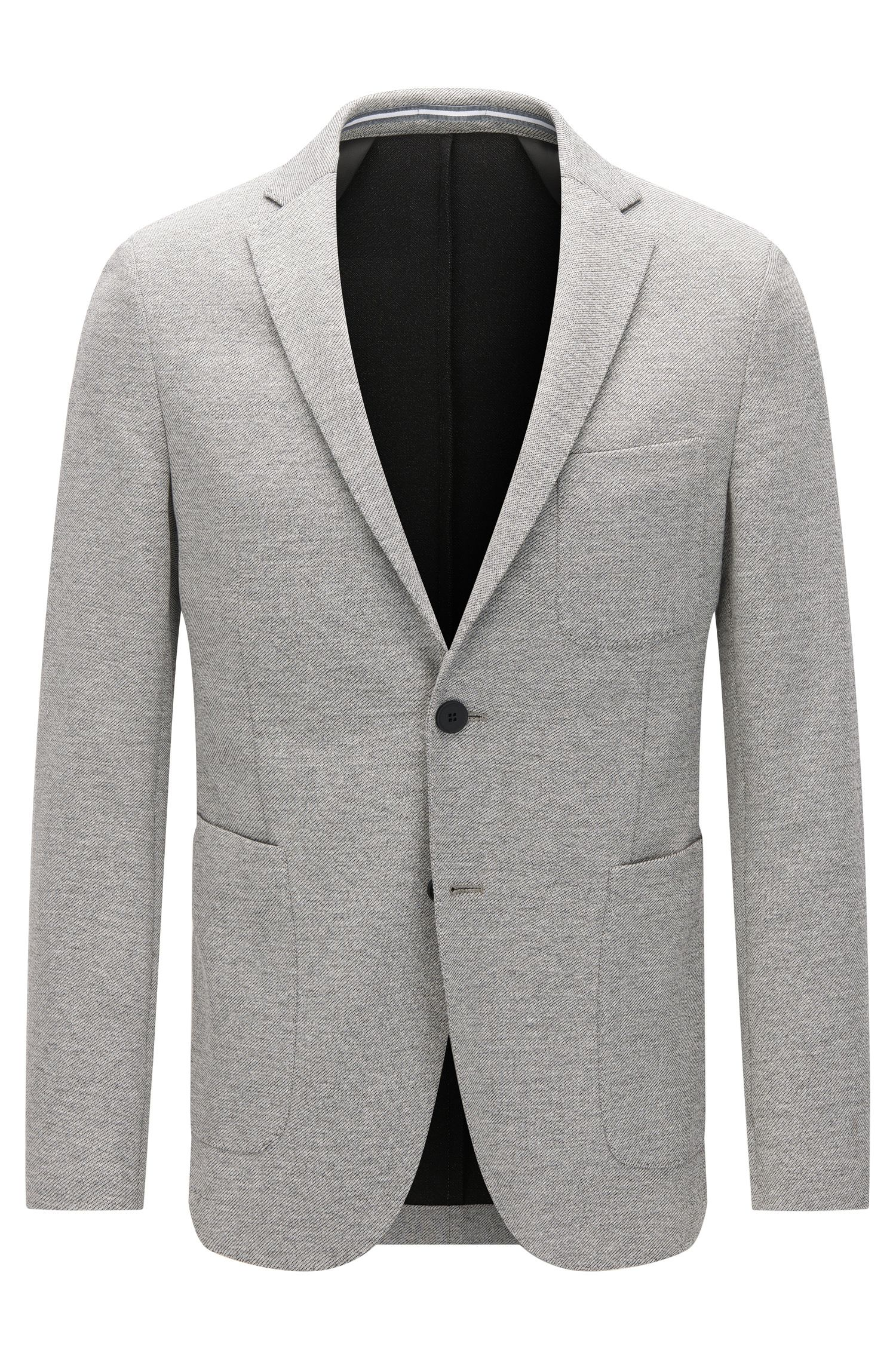 Slim-fit jacket in softly tailored jersey