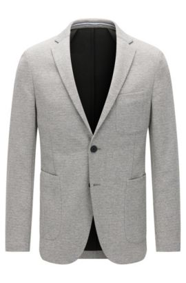 Veste Slim Fit en jersey, au design souple , Gris
