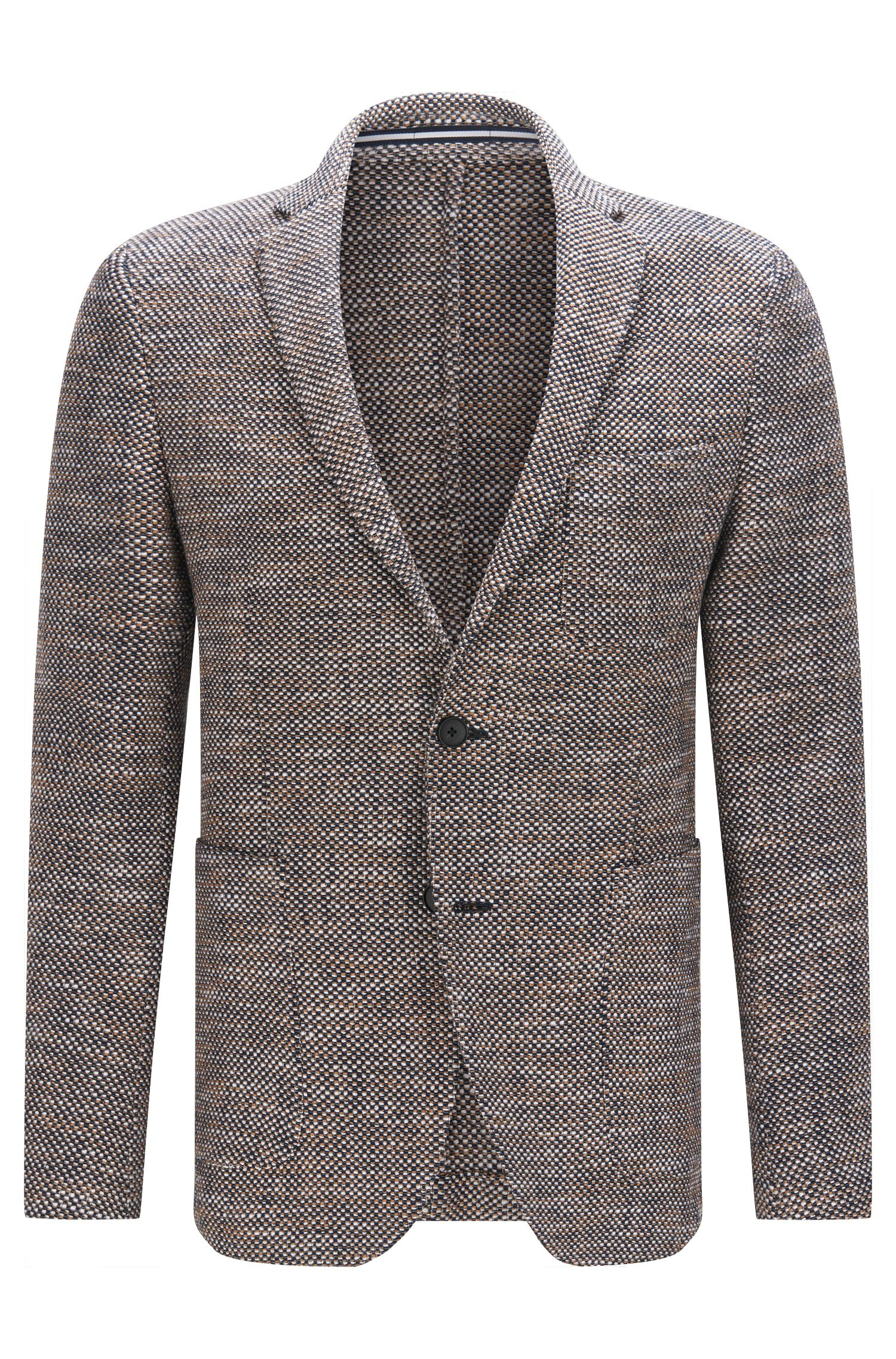 Slim-fit suit jacket in textured fabric