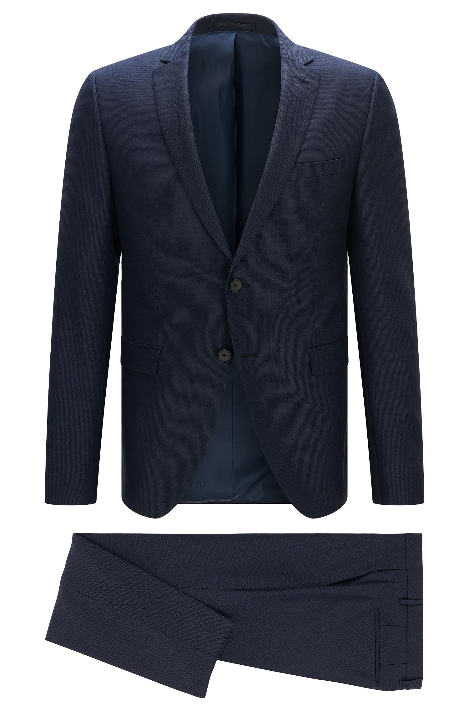 Extra-slim-fit suit in structured wool mix