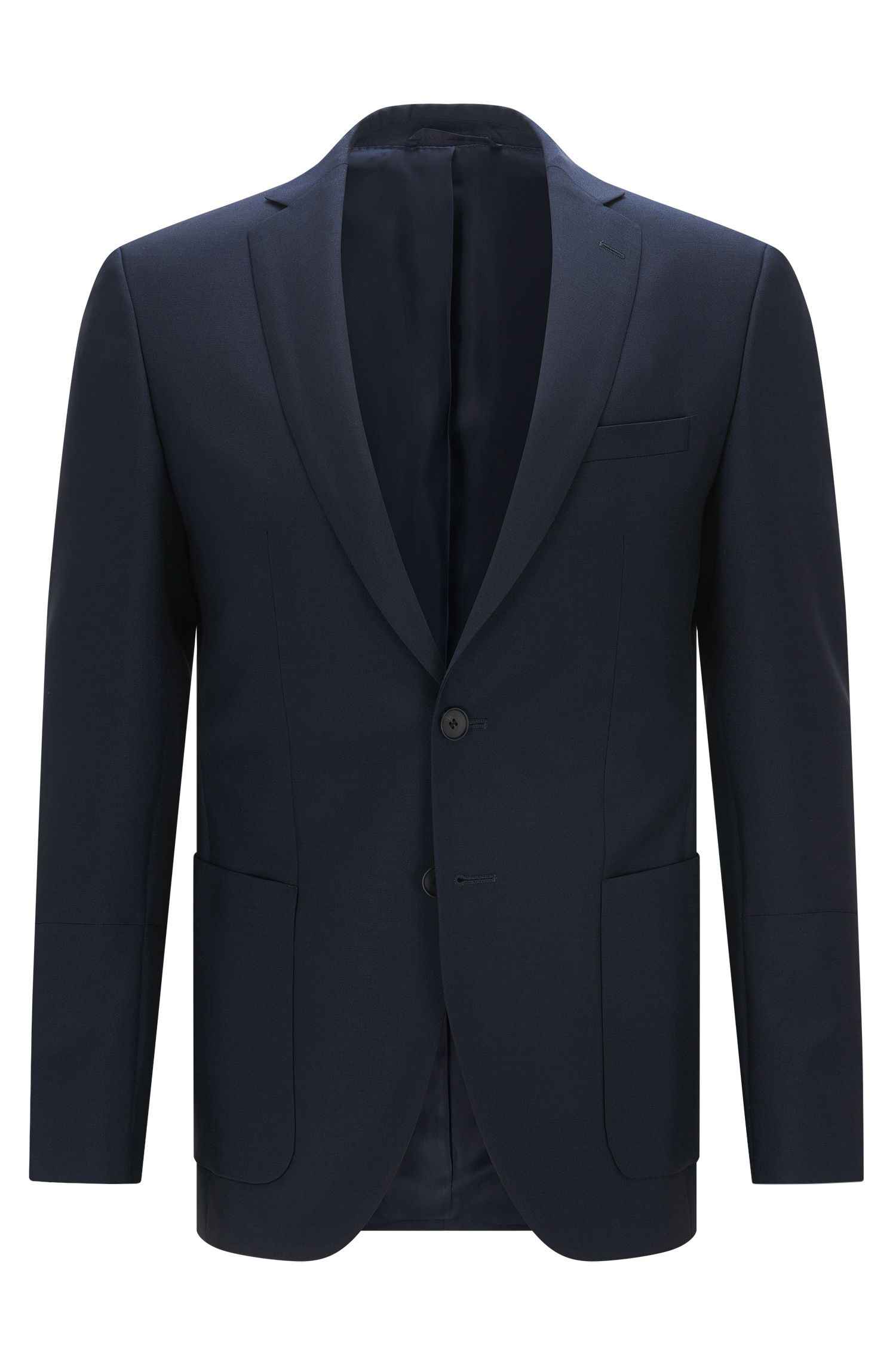 Blazer extra slim fit in lana e mohair