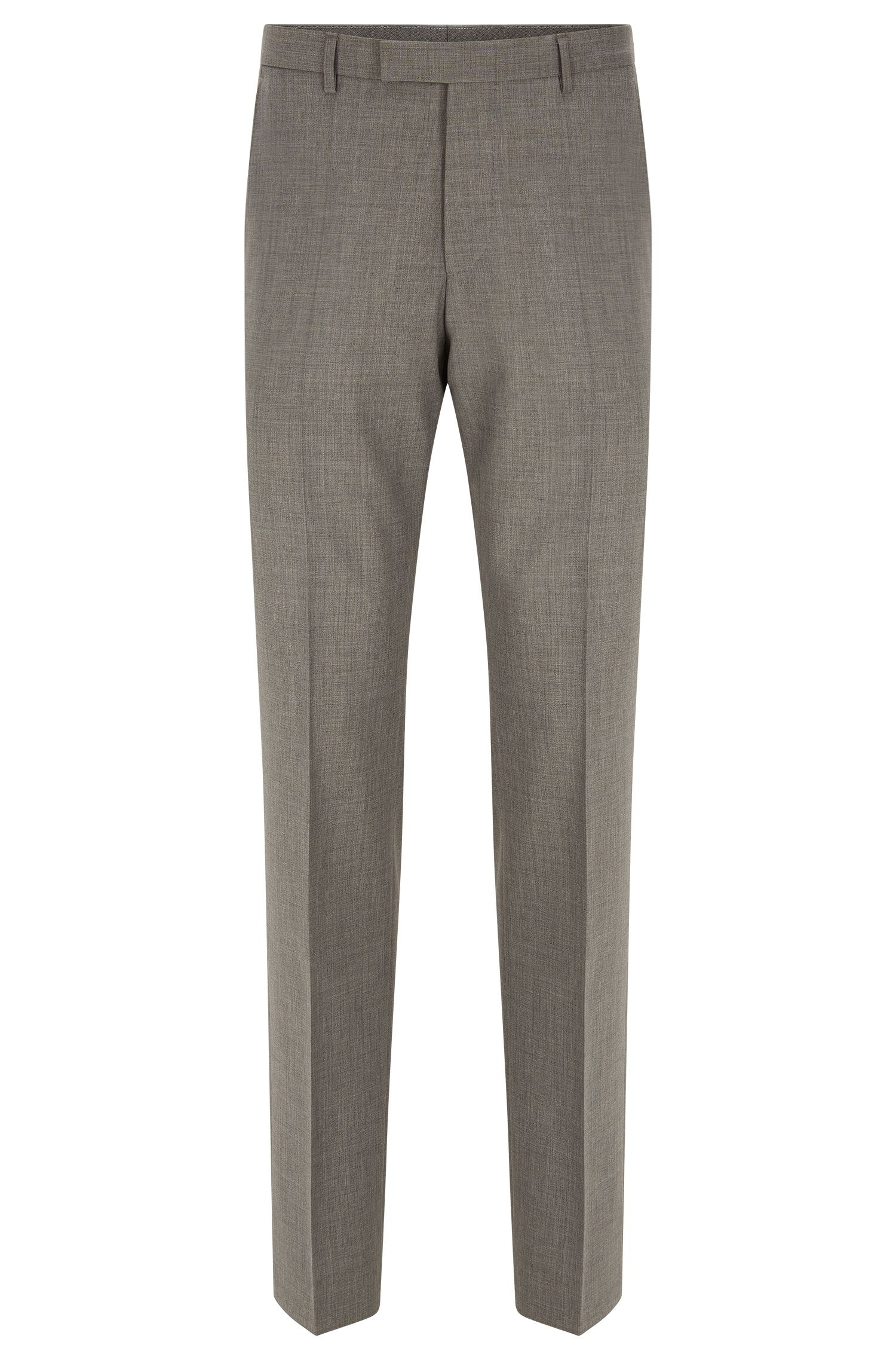 Regular-fit virgin wool trousers with added cashmere