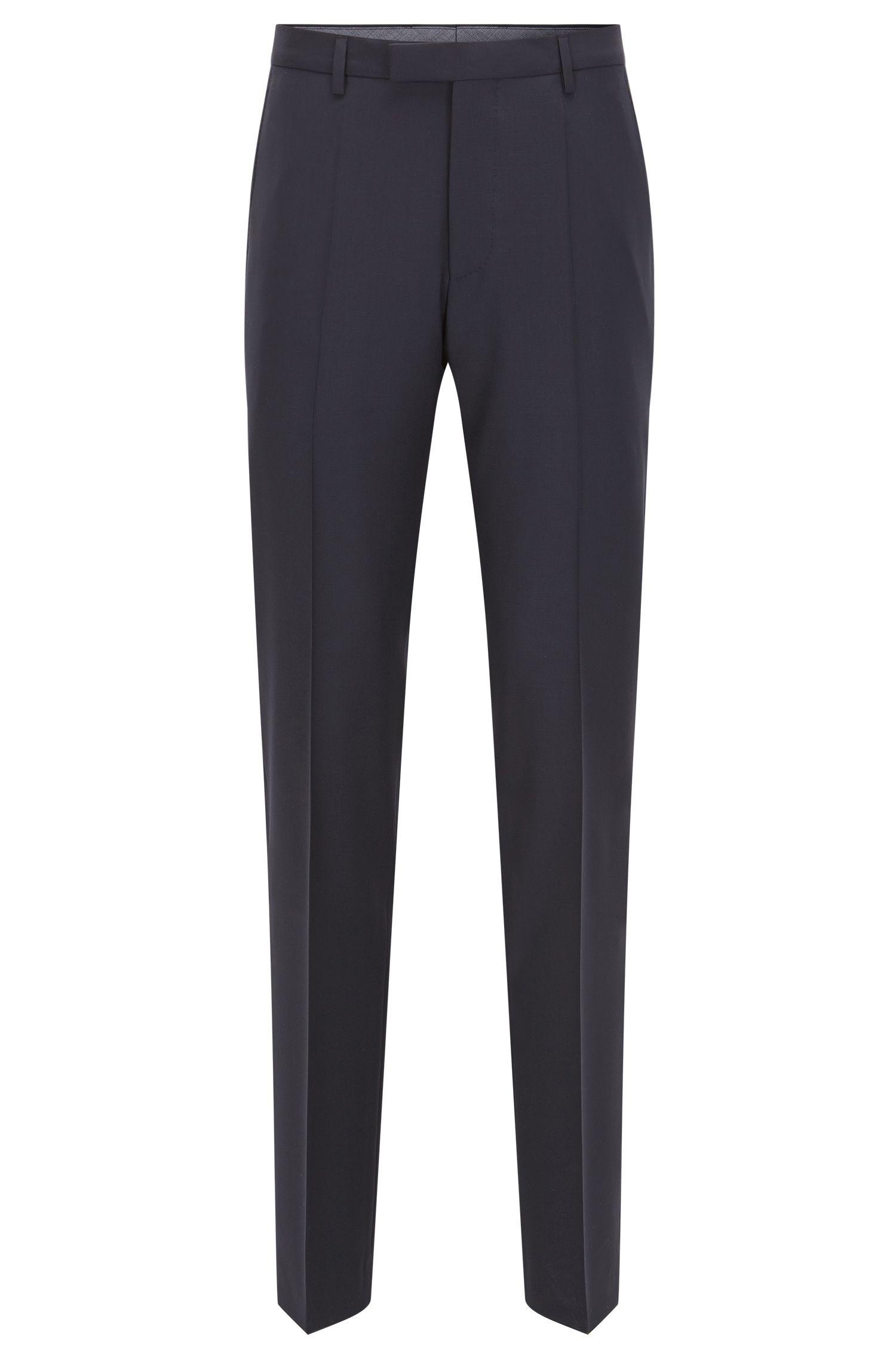 Pantaloni regular fit in lana con l'aggiunta di cashmere