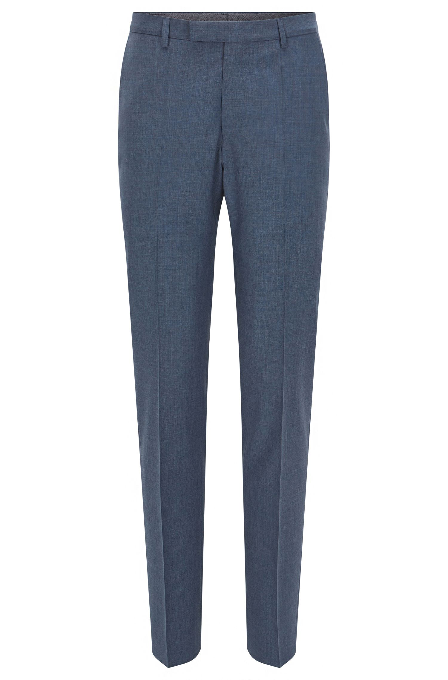 Pantalón regular fit de lana con porcentaje de cachemira
