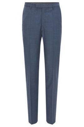 Pantalon en laine Regular Fit à teneur en cachemire, Bleu vif