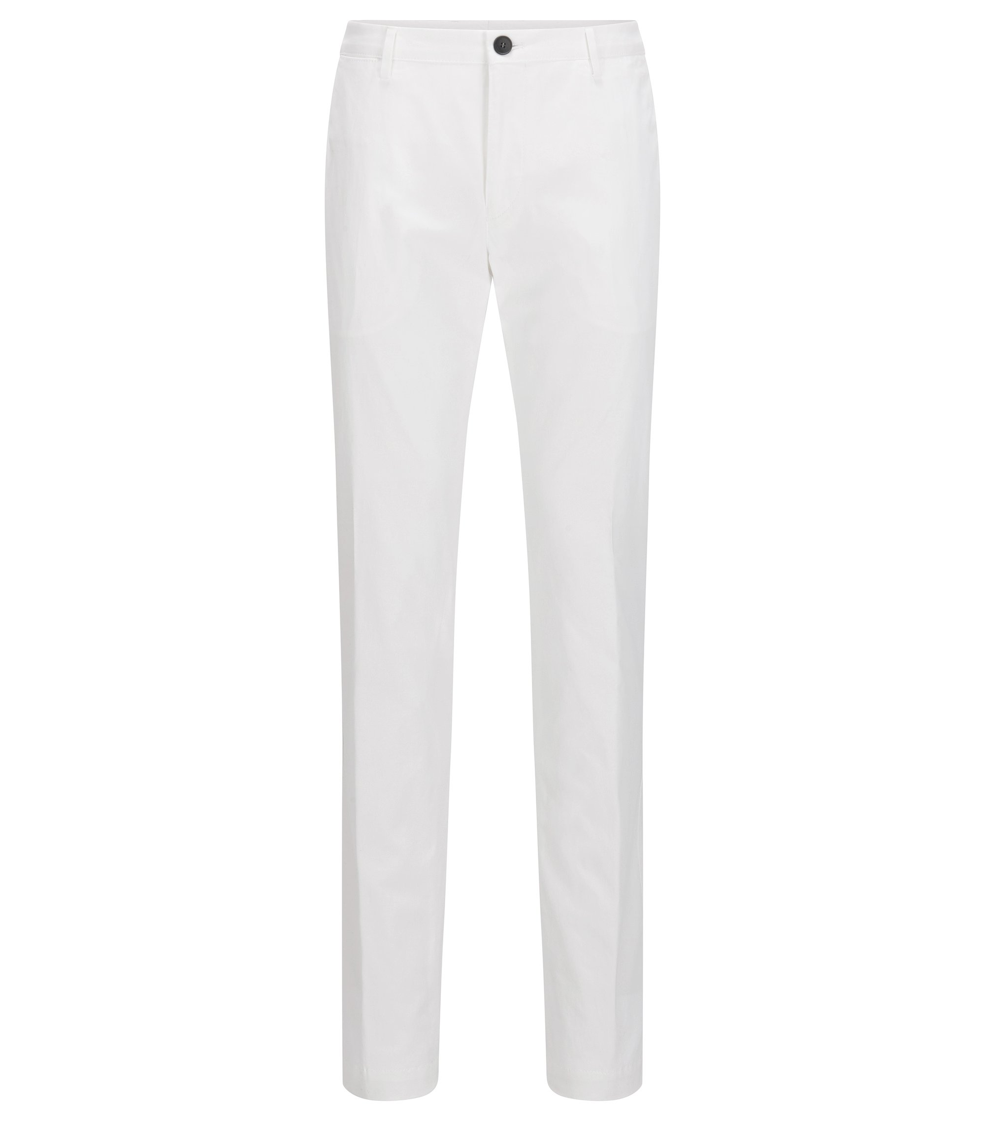 Chino Slim Fit en coton stretch délavé, Blanc