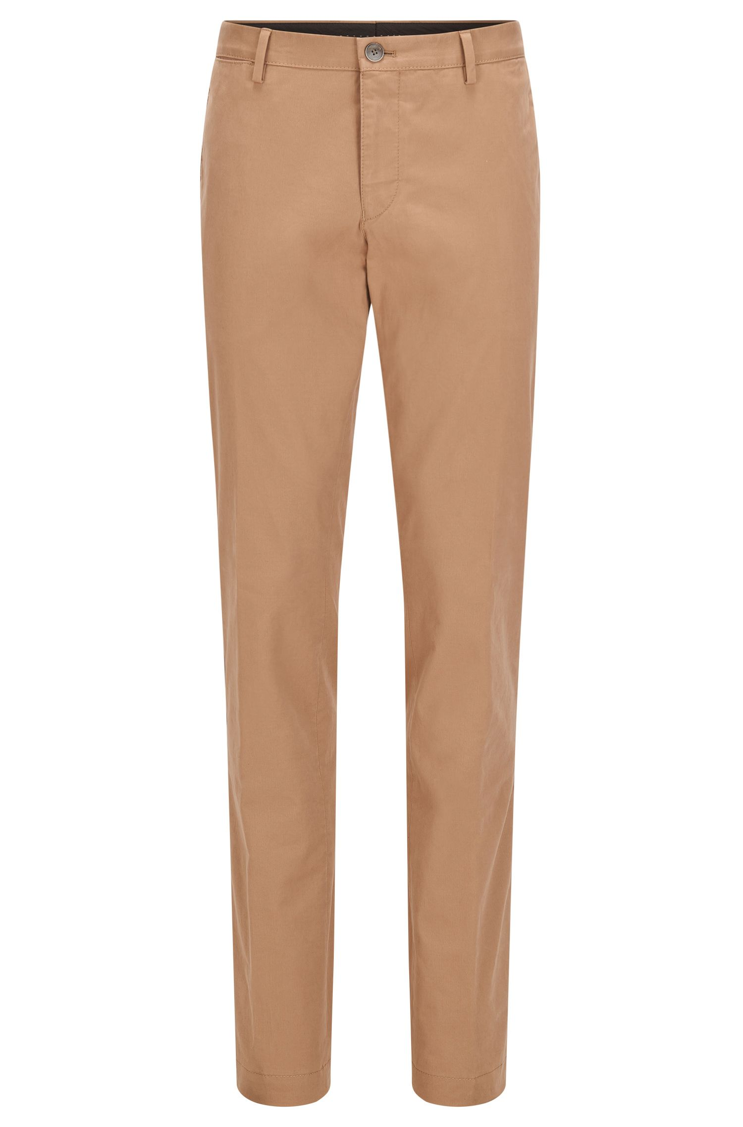 Slim-fit chinos in washed stretch cotton