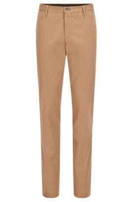 Chino Slim Fit en coton stretch délavé, Beige