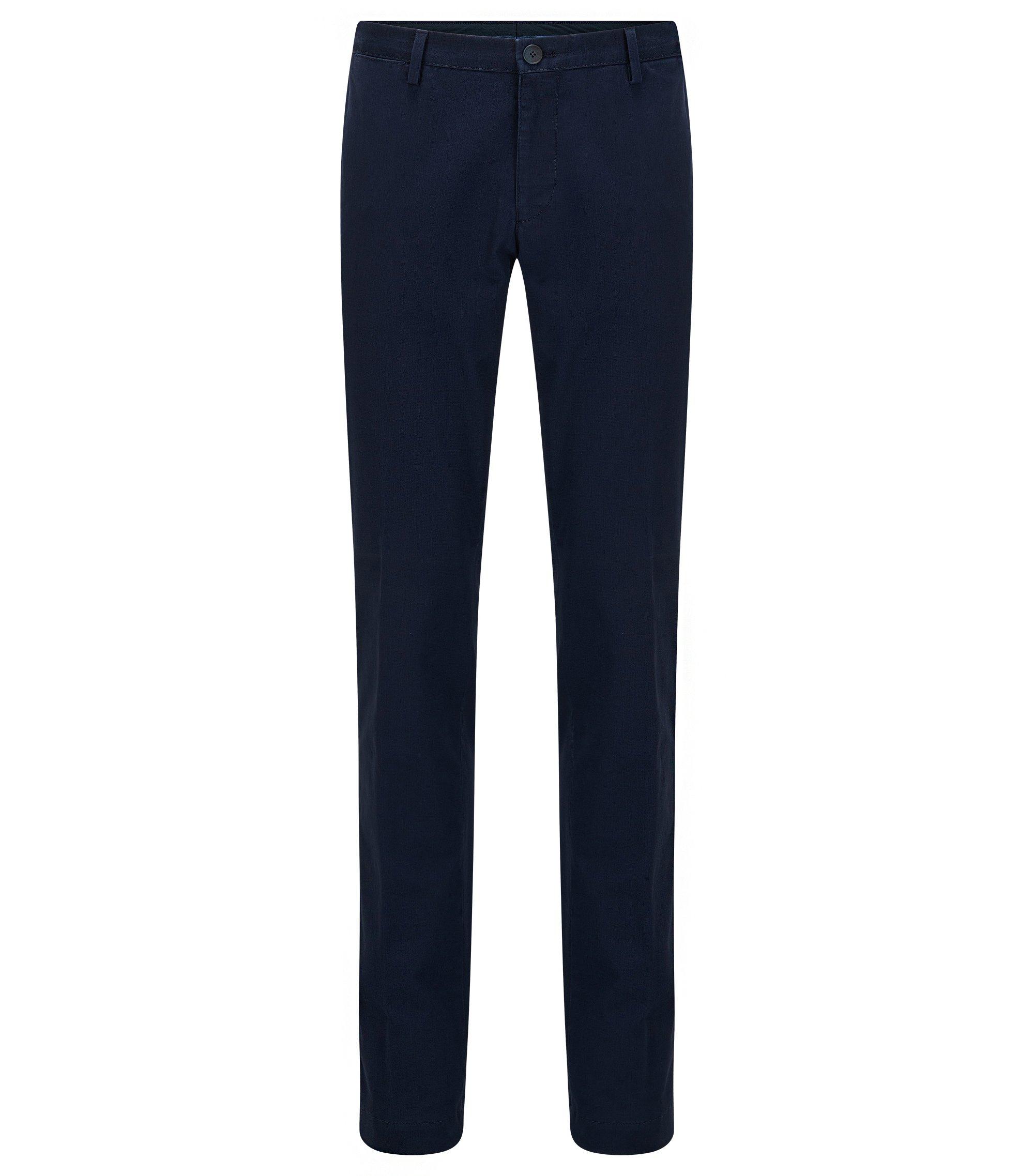 Chino Slim Fit en coton stretch délavé, Bleu foncé
