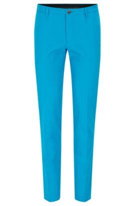 Chino Slim Fit en coton stretch délavé, Bleu vif