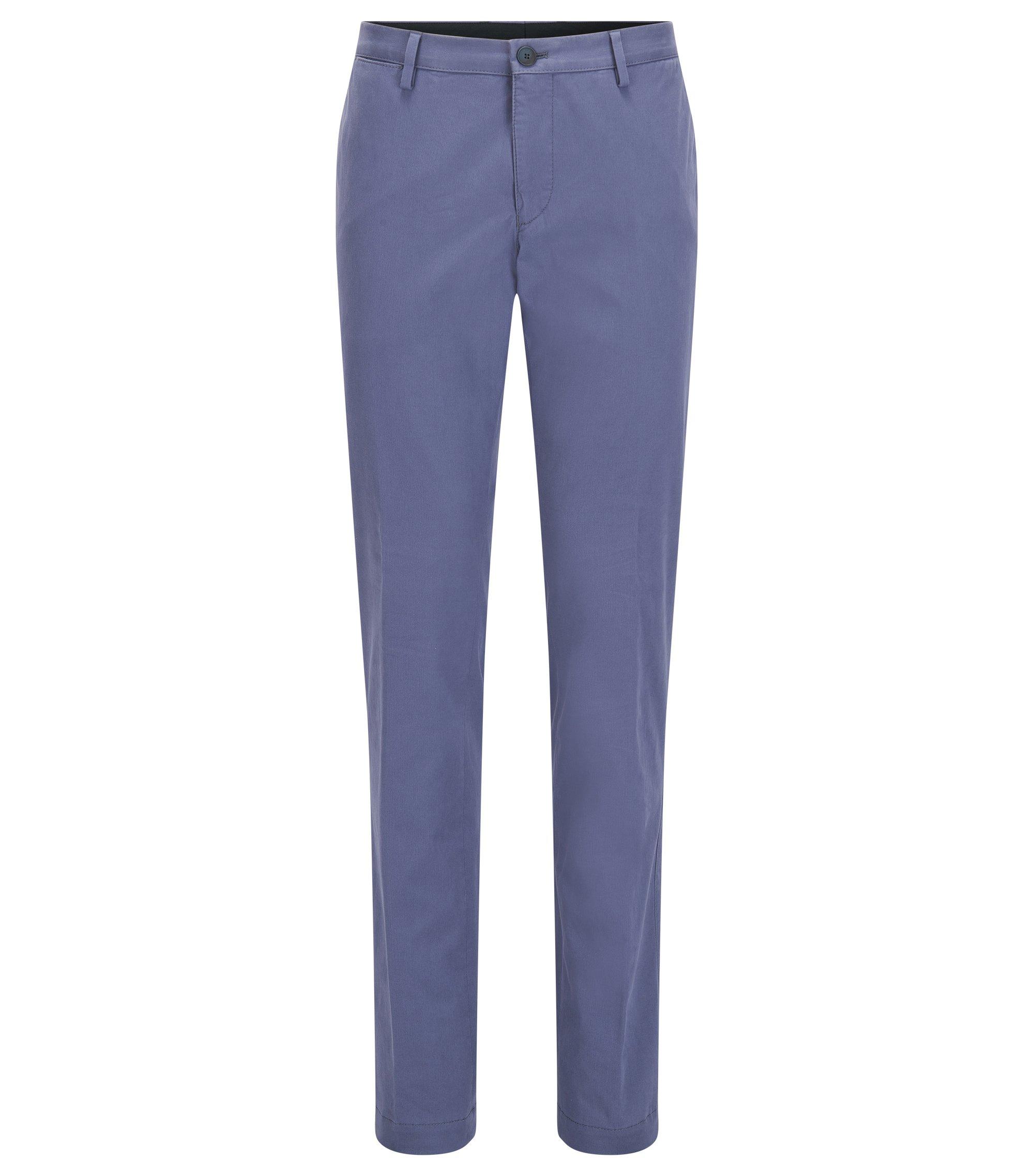 Chino slim fit in cotone elasticizzato lavato, Blu