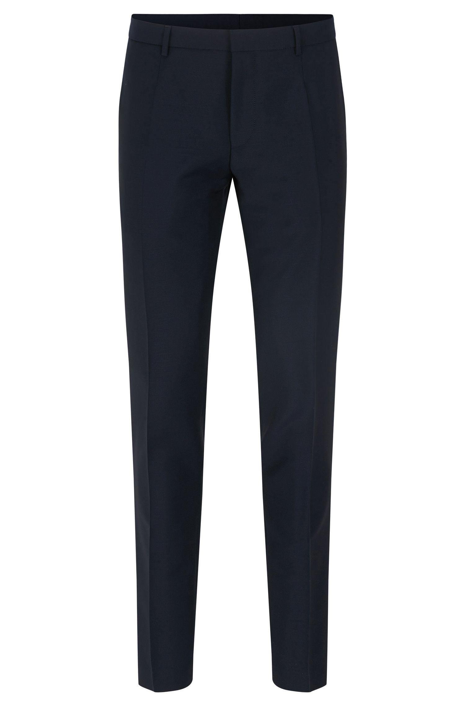 Pantaloni extra slim fit in lana vergine con mohair