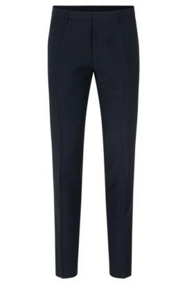 Pantaloni extra slim fit in lana vergine con mohair, Blu scuro