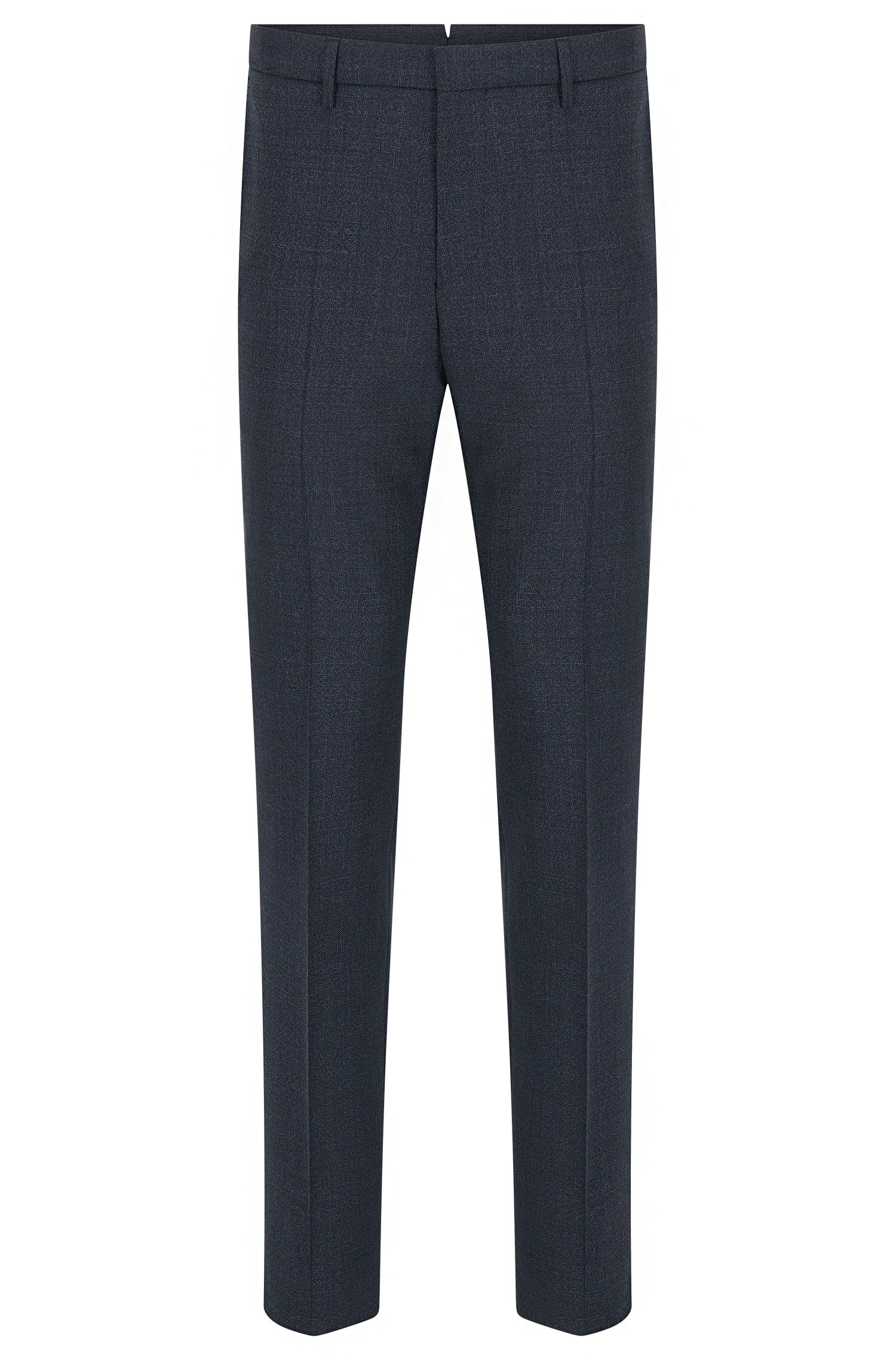 Mouliné slim-fit trousers in virgin wool