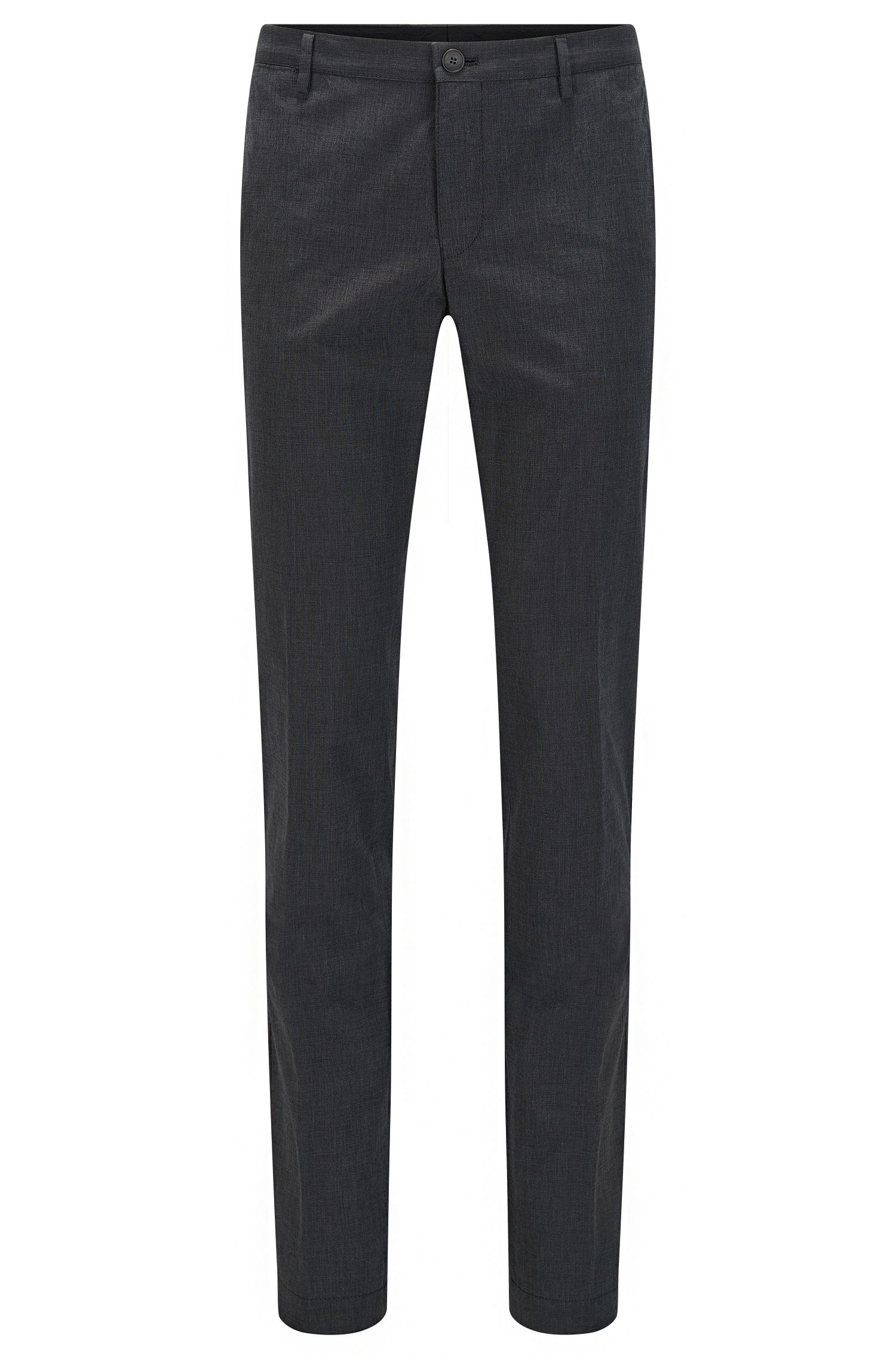 Chino slim fit tinti in capo in cotone fil-à-fil