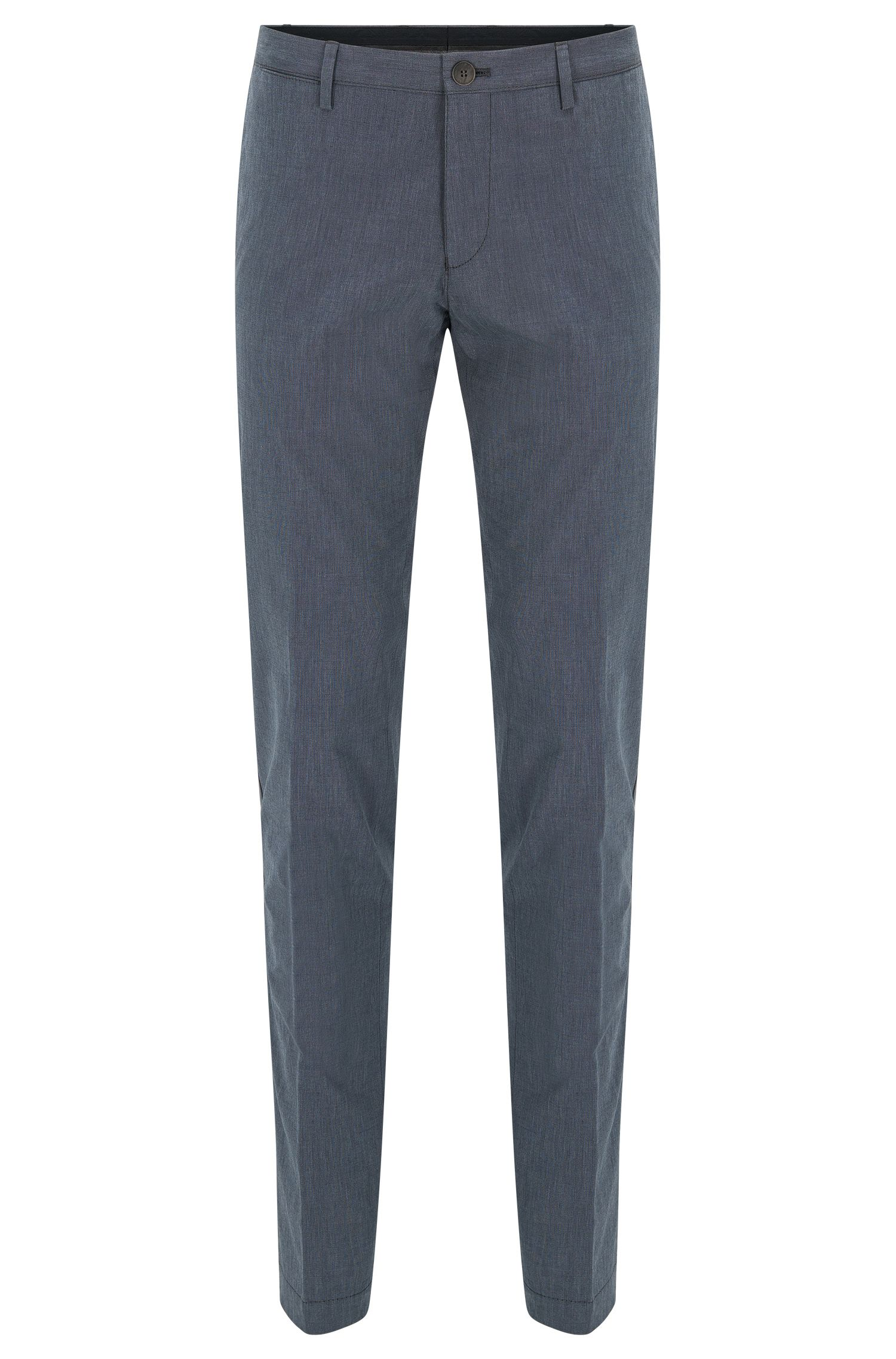Slim-fit garment-washed chinos in end-on-end cotton