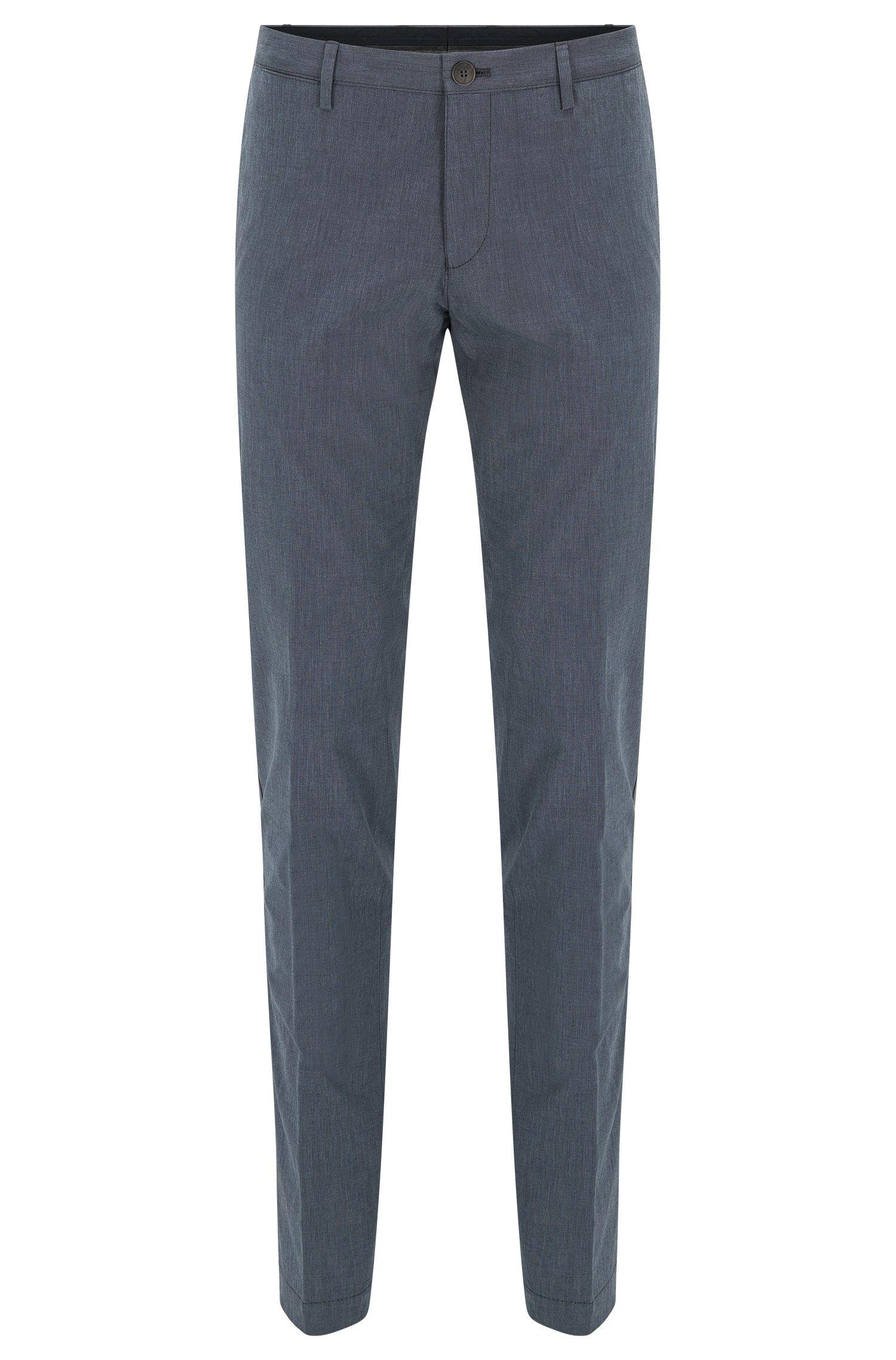 Chino Slim Fit «garment-washed» en coton fil-à-fil