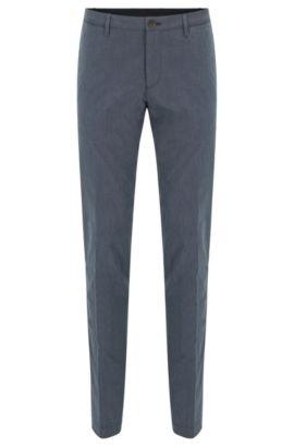 Chino Slim Fit «garment-washed» en coton fil-à-fil, Bleu