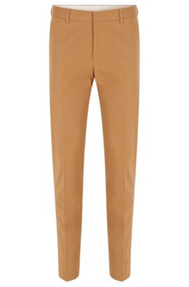 Pantalon Slim Fit en coton stretch, Beige