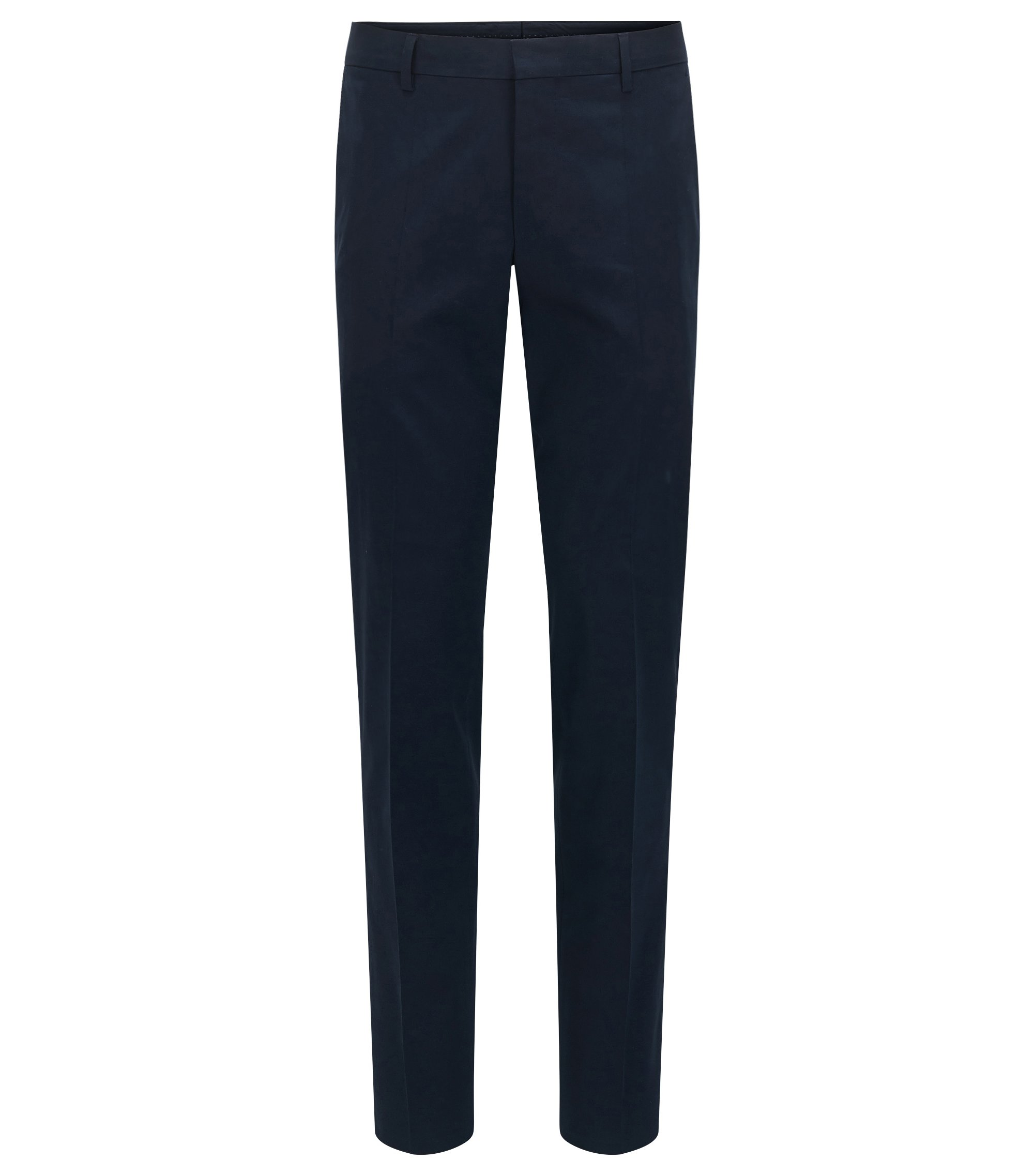 Pantalón slim fit en algodón elástico, Azul oscuro